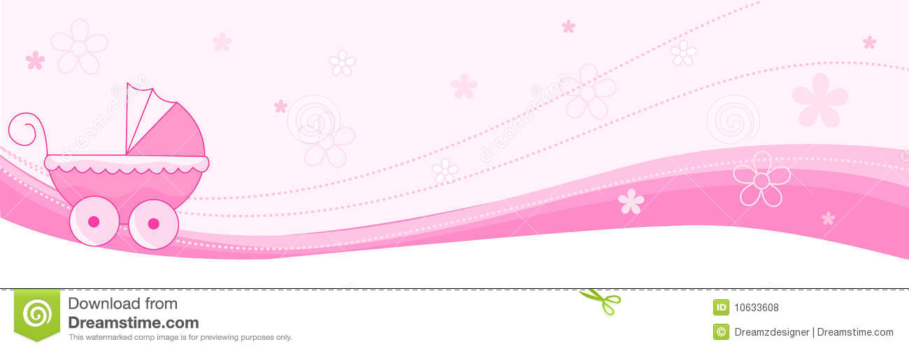 Baby Girl Banner / Header Royalty Free Stock Photos - Image: 10633608