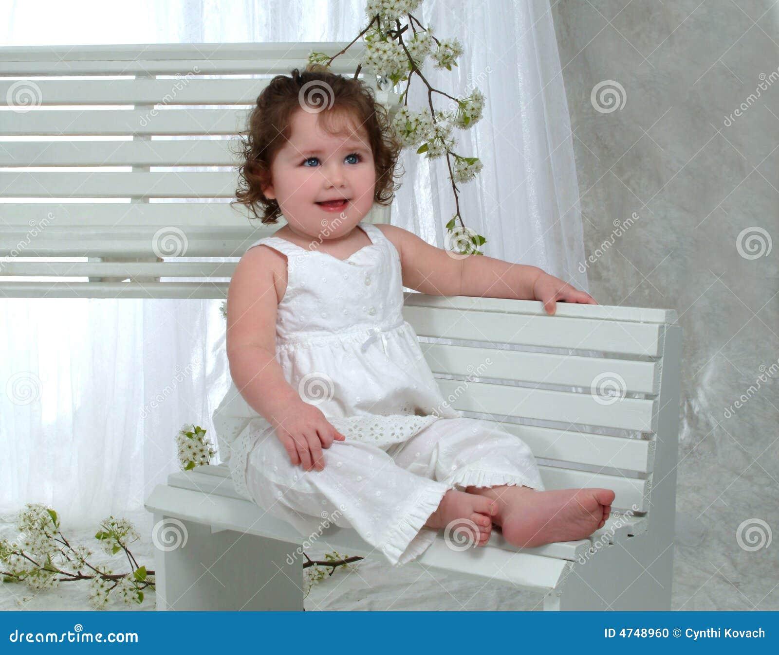 Baby Girl on bench