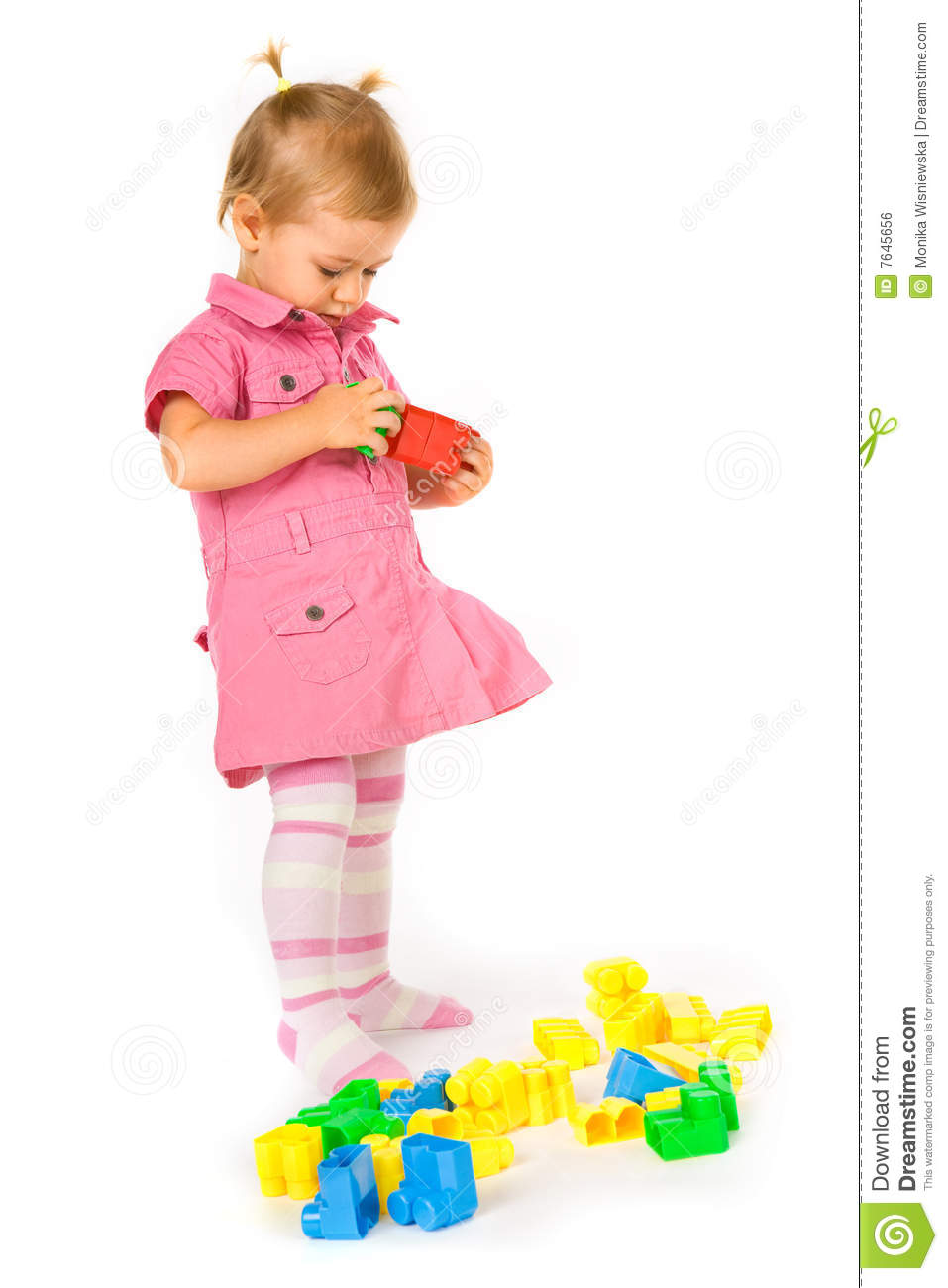 Baby Girl With Blocks Royalty Free Stock Image - Image ...