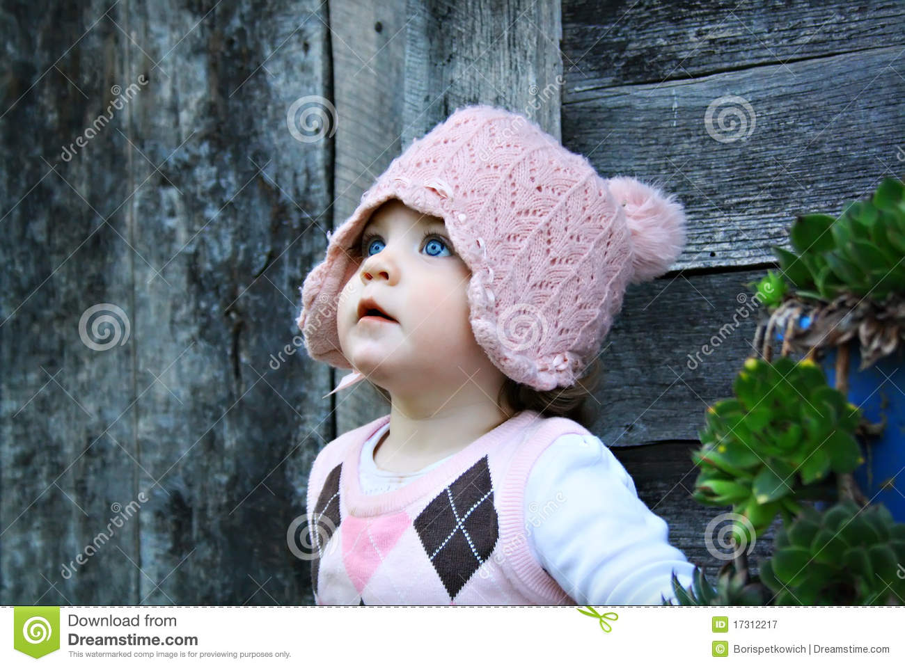 Baby Girl With Blue Eyes Royalty Free Stock graphy