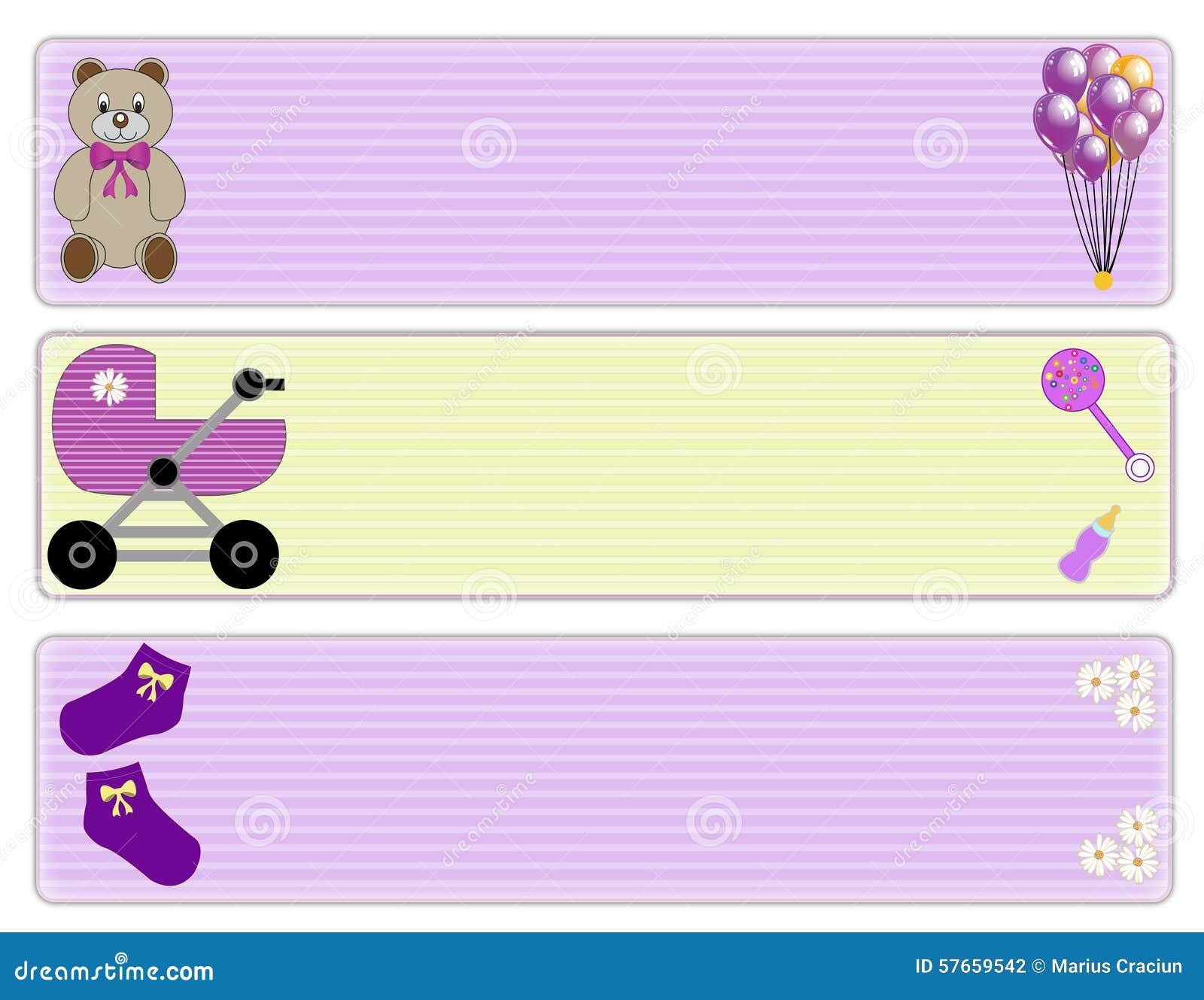 baby girl borders stock illustration illustration of child 57659542