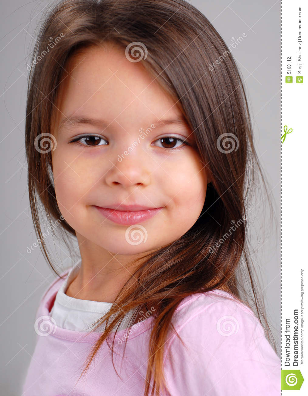 Baby girl with brown hair stock photo. Image of human ...