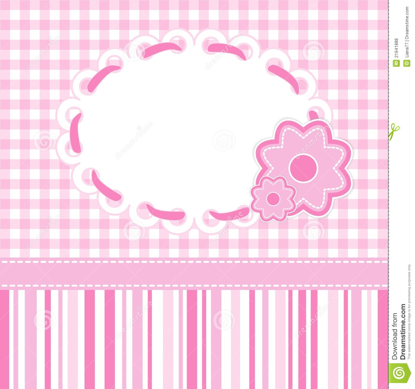 Baby Girl Card Royalty Free Stock Photos - Image: 21941888