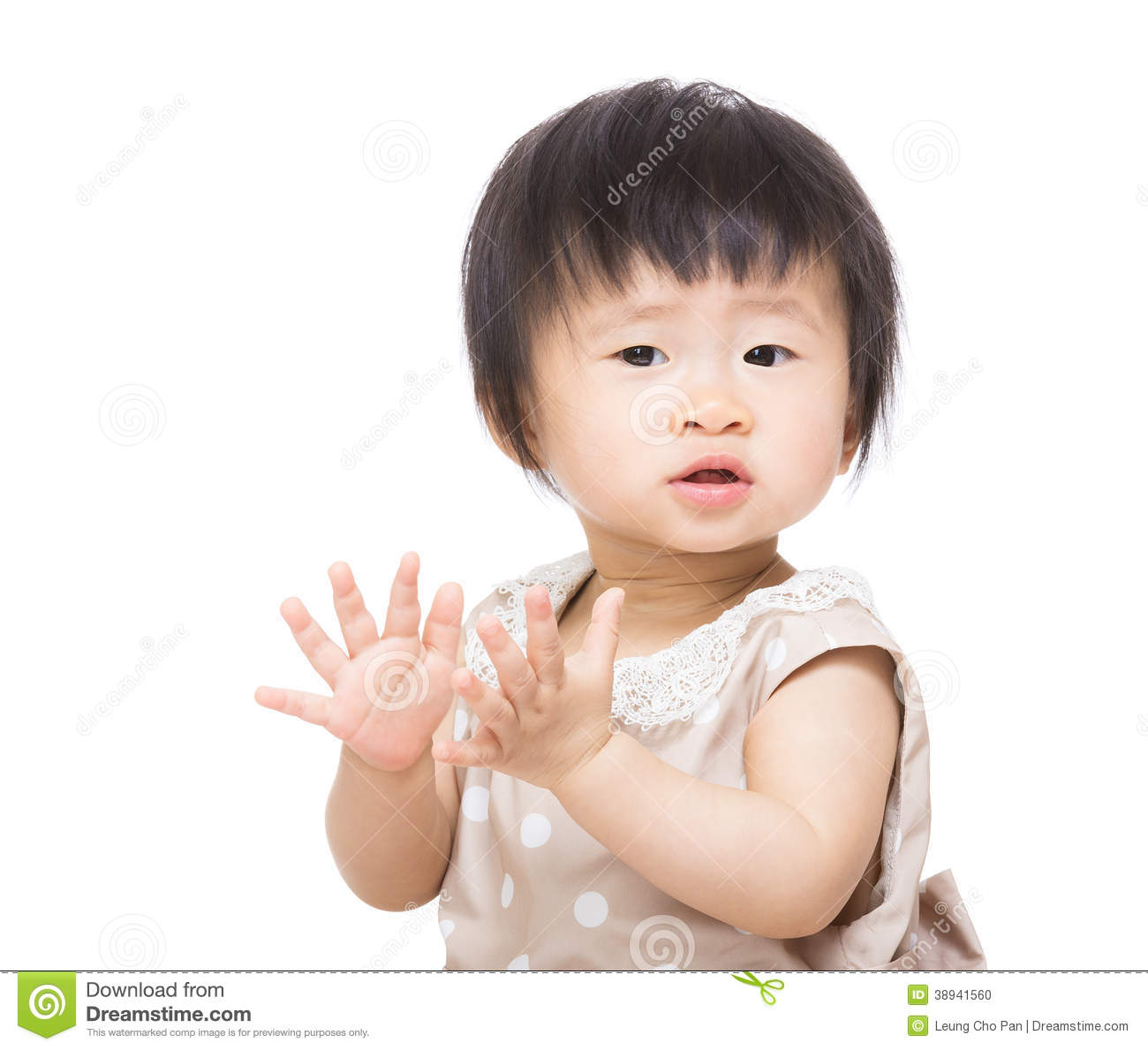 Baby Girl Clapping Hands Stock Photo - Image: 38941560