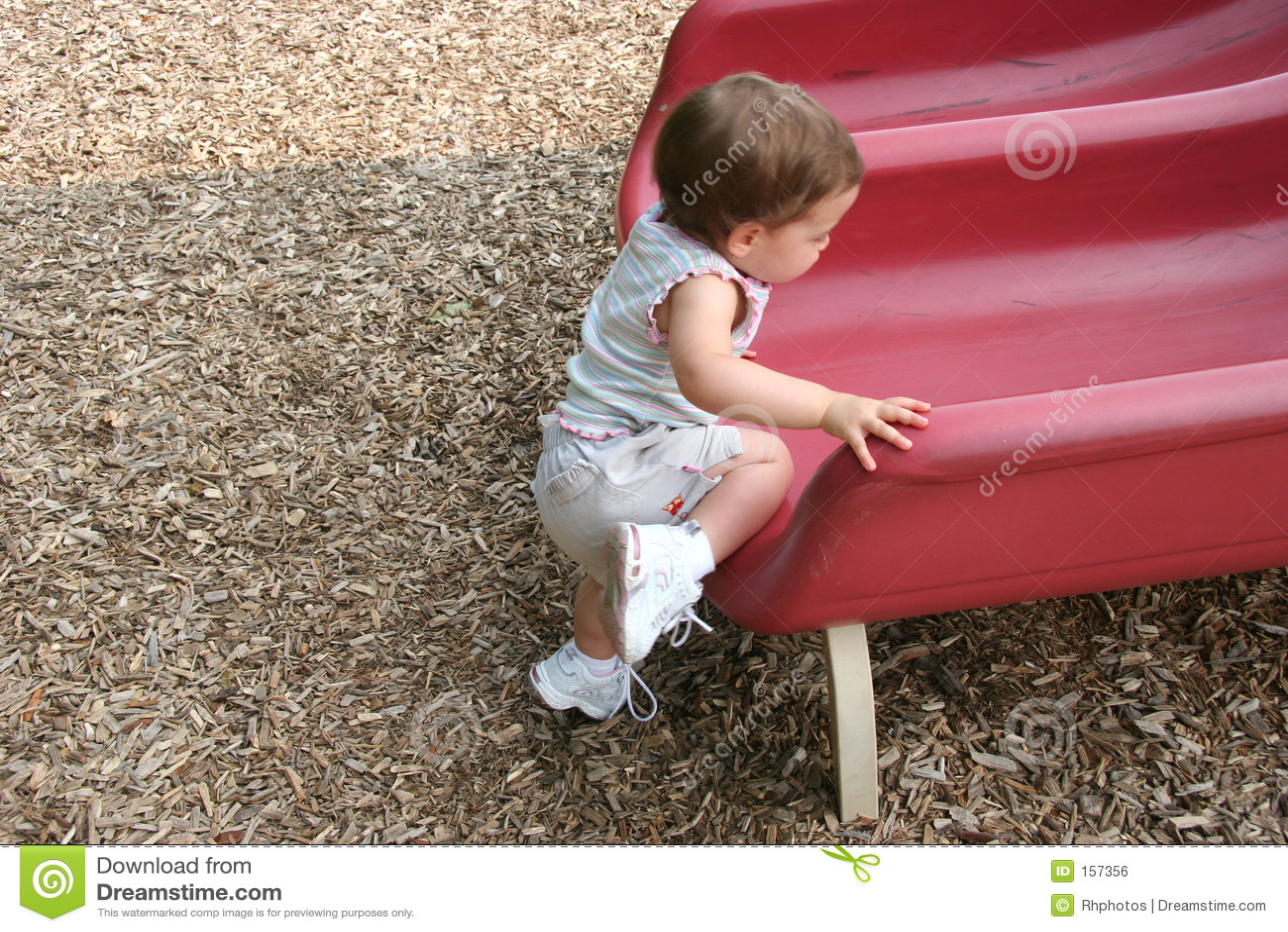 Girl sliding back on the green slime - 1 6