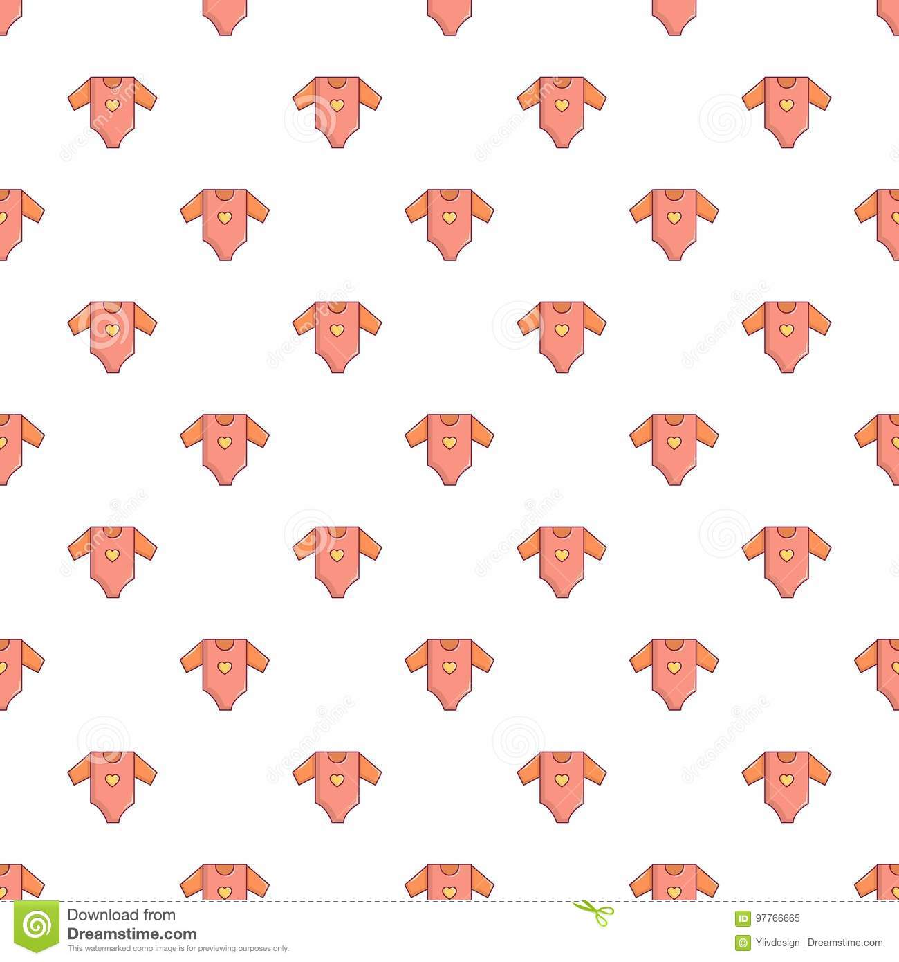 72cdd8d039f9 Baby Girl Clothes Pattern Seamless Stock Vector - Illustration of ...