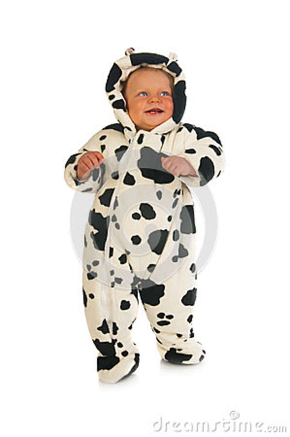 Download Baby girl in cow costume stock photo. Image of infant - 39971374  sc 1 st  Dreamstime.com : cow costume for child  - Germanpascual.Com