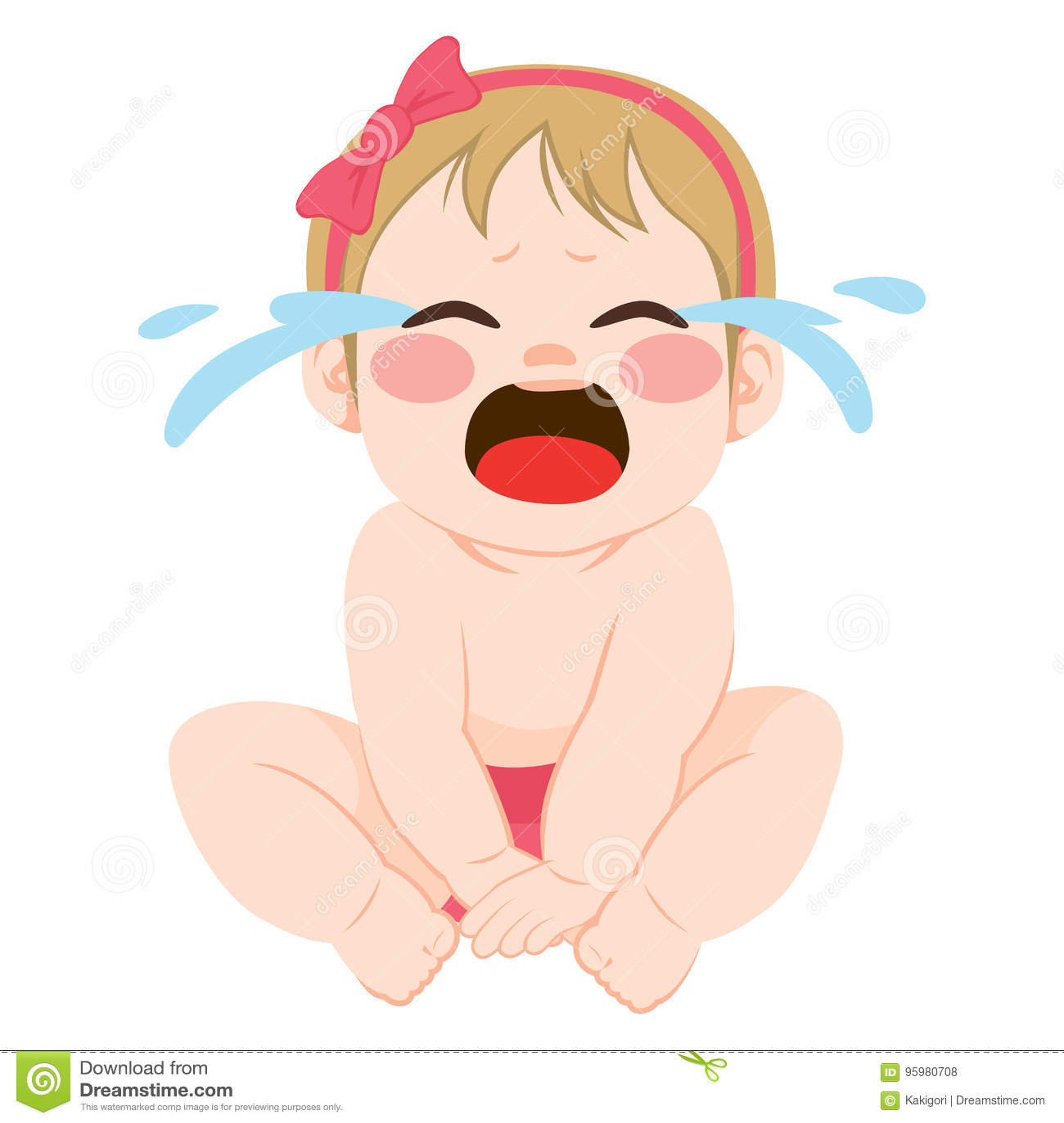 Little Cute Girl Crying Stock Illustrations 570 Little Cute Girl