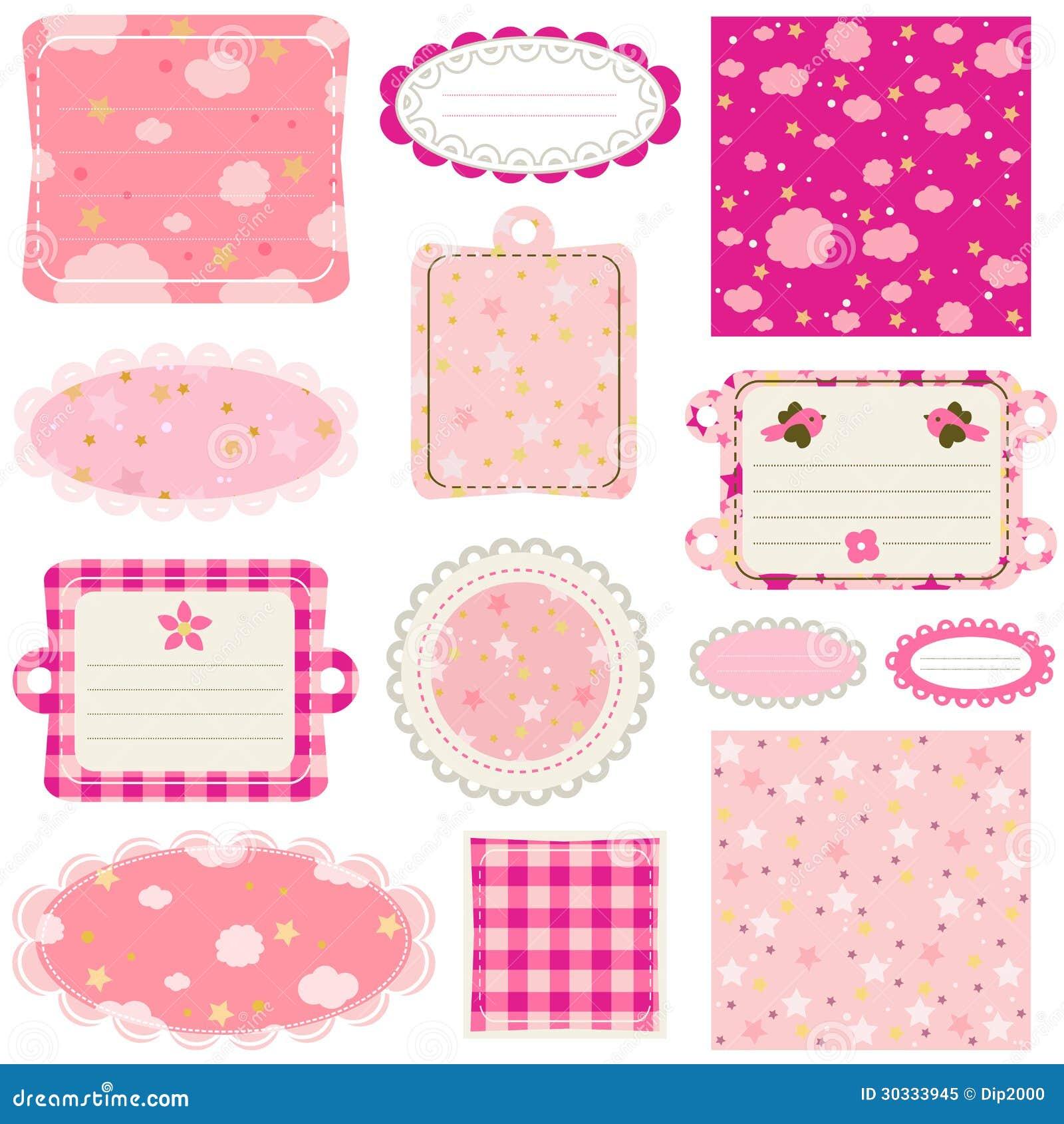 How to scrapbook for baby girl - Baby Girl Design Elements