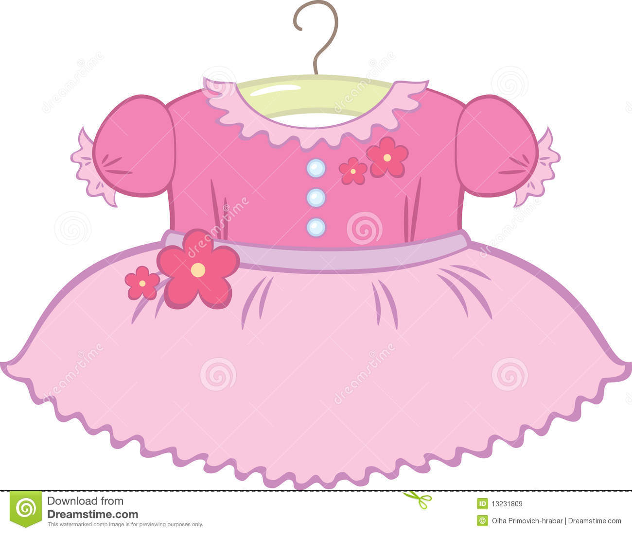 Baby Girl Dress Royalty Free Stock Images  Image: 13231809