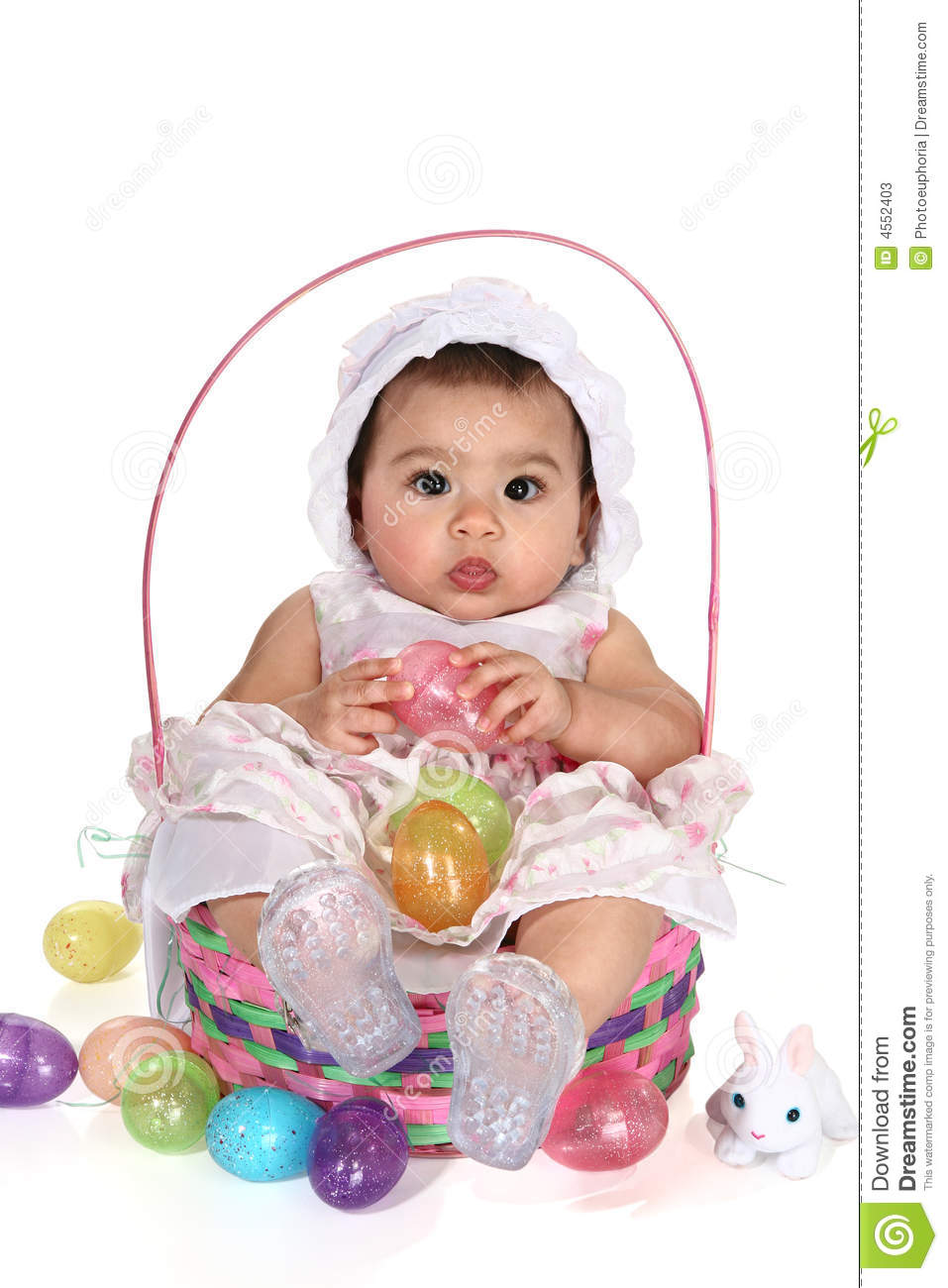 Baby girl easter basket stock image image of white precious baby girl easter basket negle Image collections