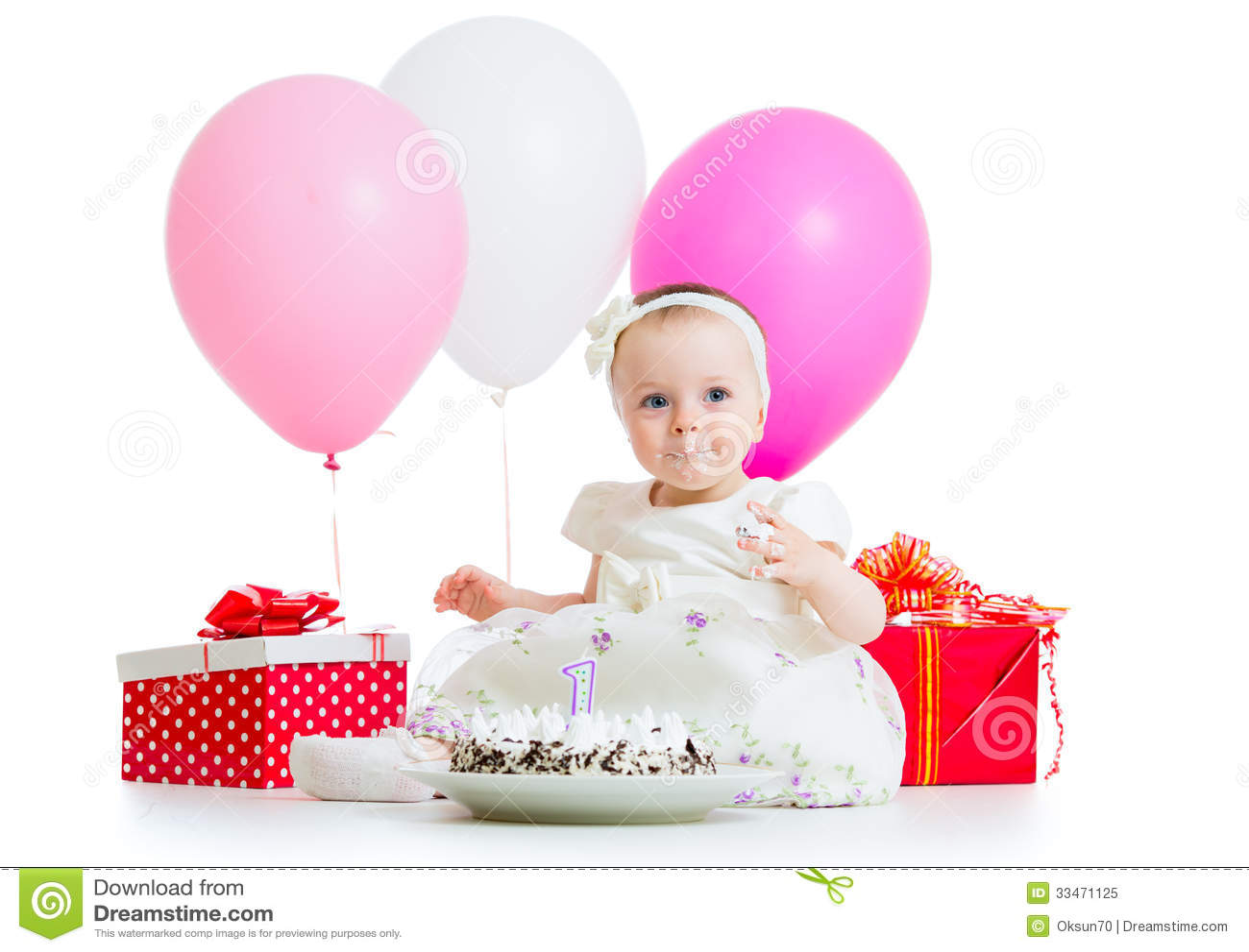 baby girl eating birthday cake royalty free stock photo image on images baby eating birthday cake