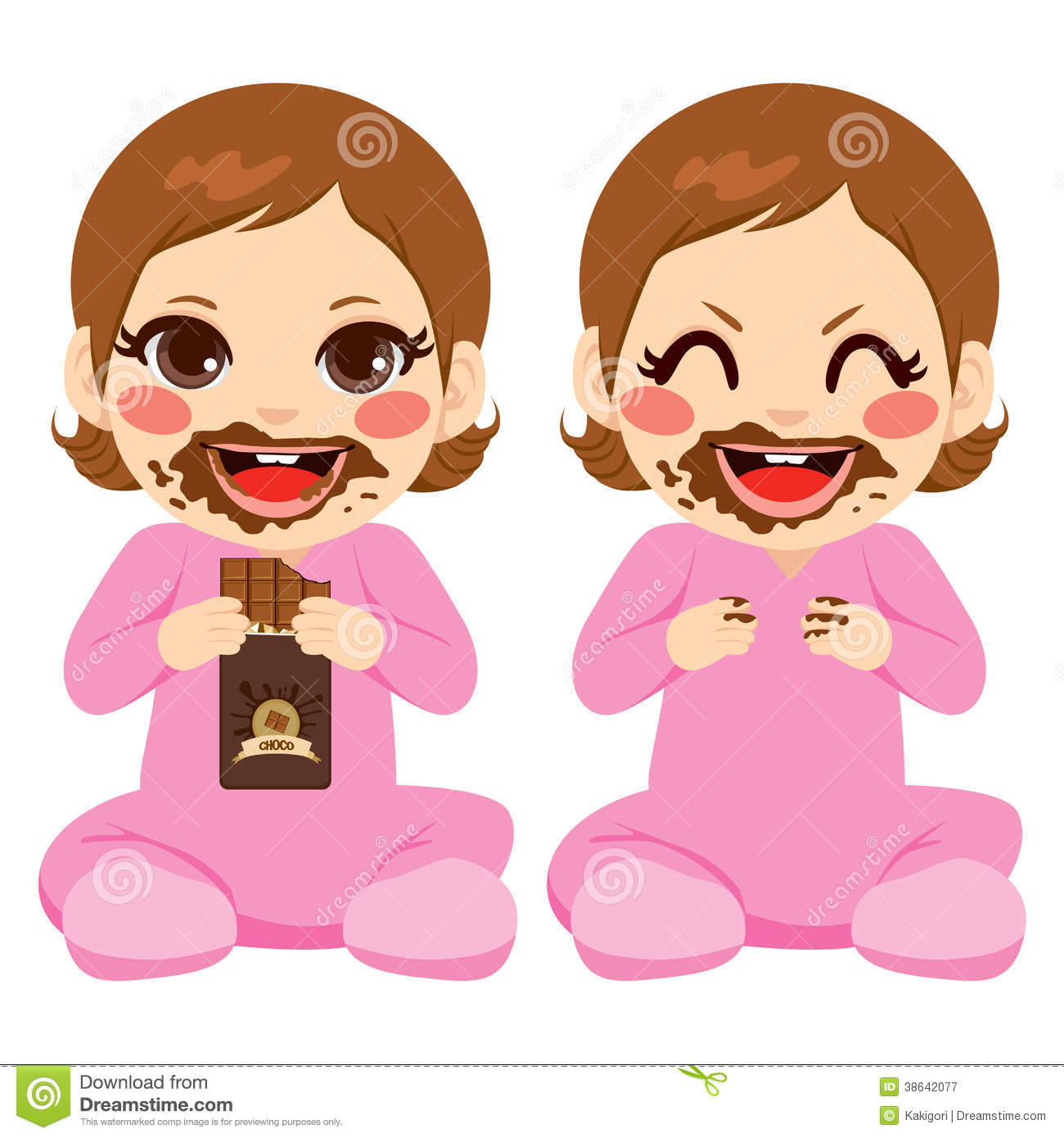 Baby Eating Cake Clipart : Baby Girl Eating Chocolate Royalty Free Stock Photography ...