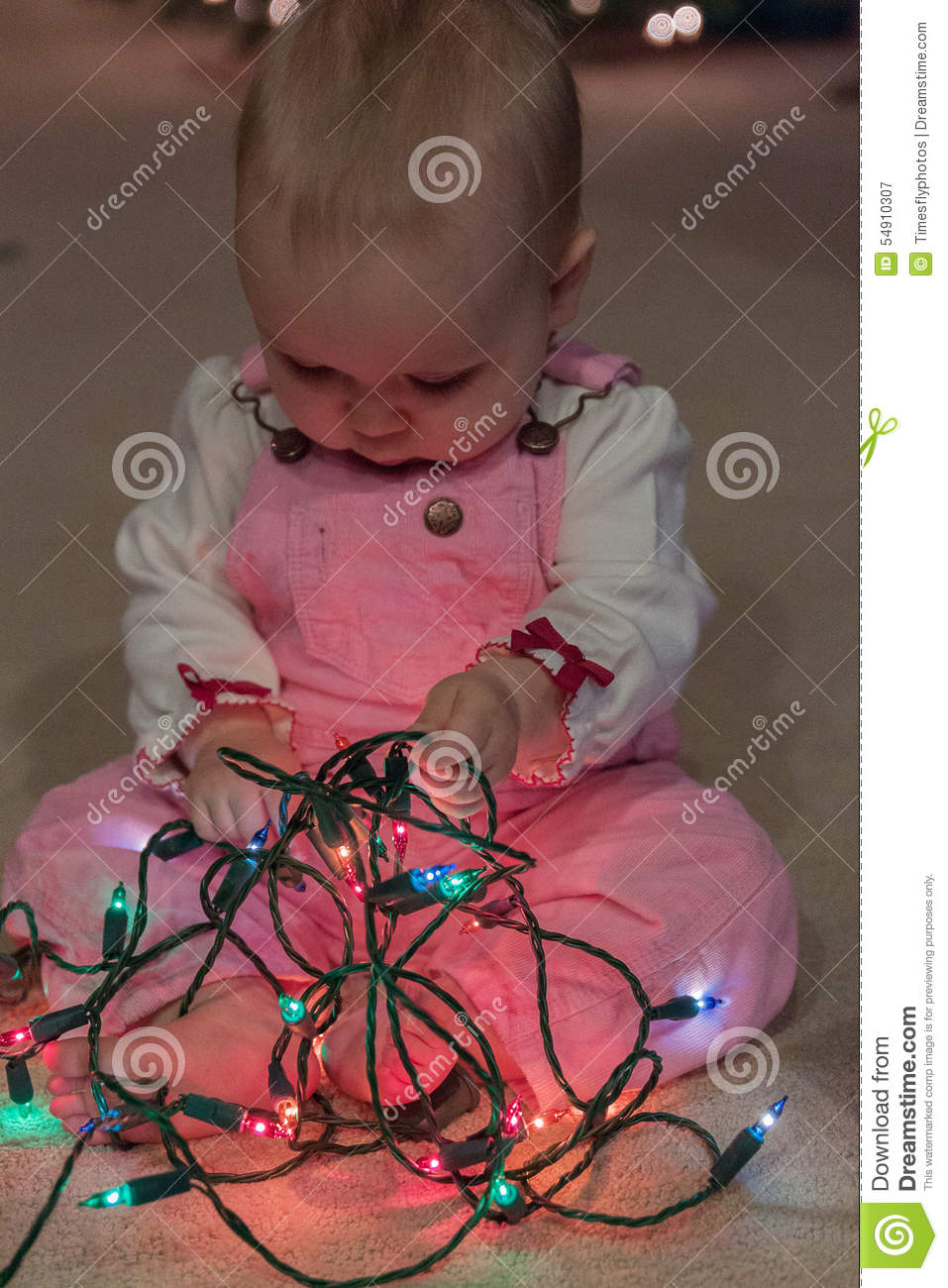 how to take baby photos with christmas lights