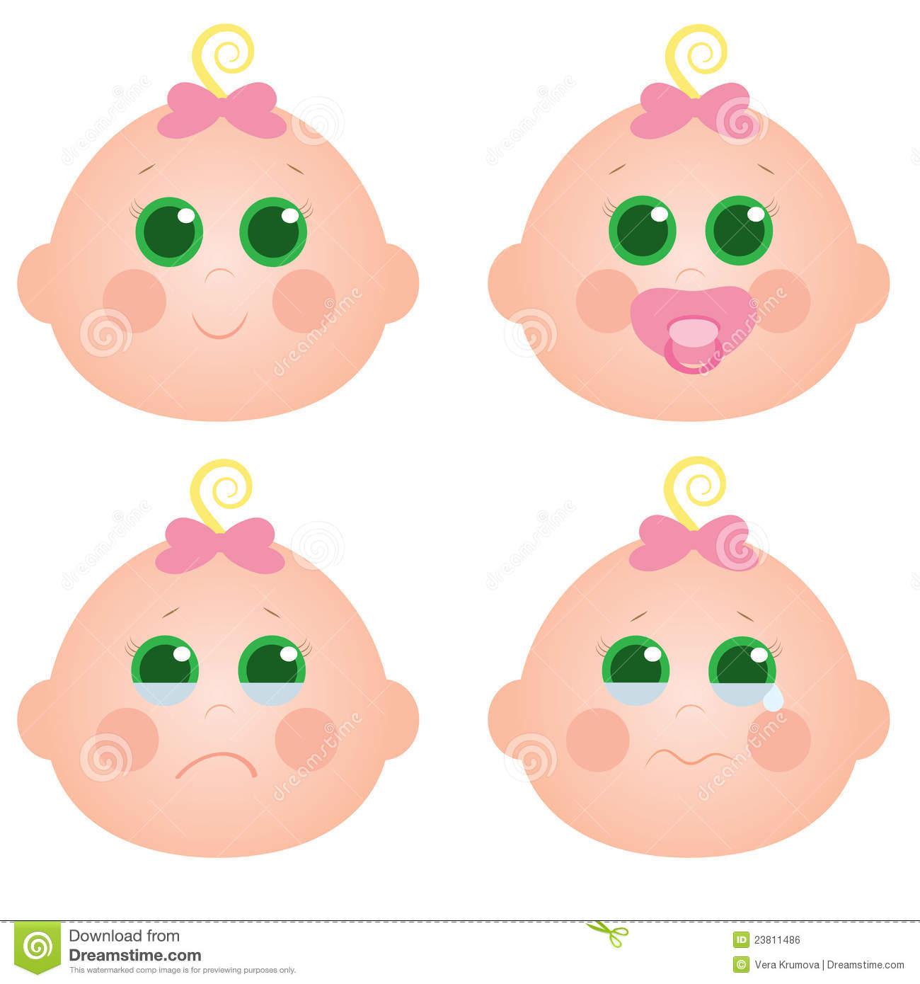 baby girl face stock vector illustration of beautiful 23811486 rh dreamstime com Dancing Smiley Face Clip Art Dancing Smiley Face Clip Art