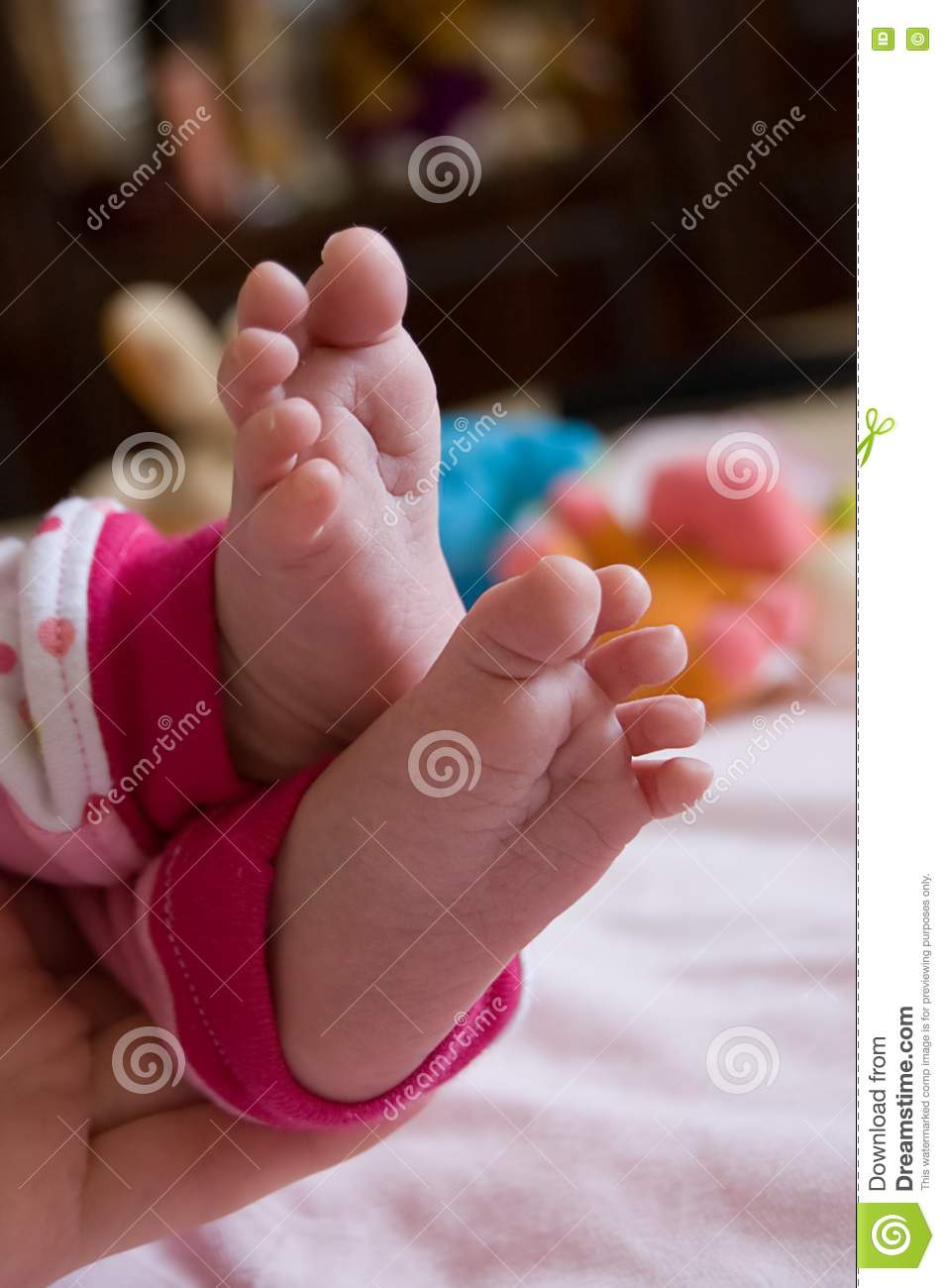 Baby Girl Feet Stock Image Image Of Care Daughter Baby