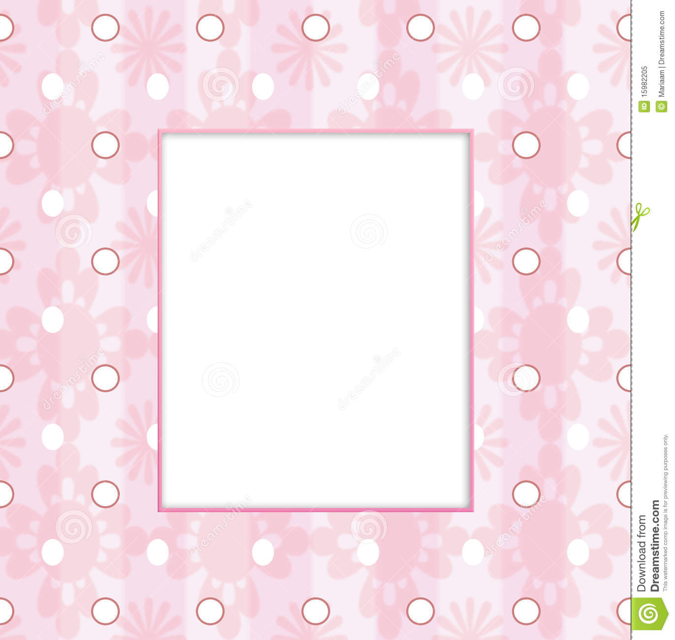 Baby Girl Borders And Frames Baby girl frame in pink pastel