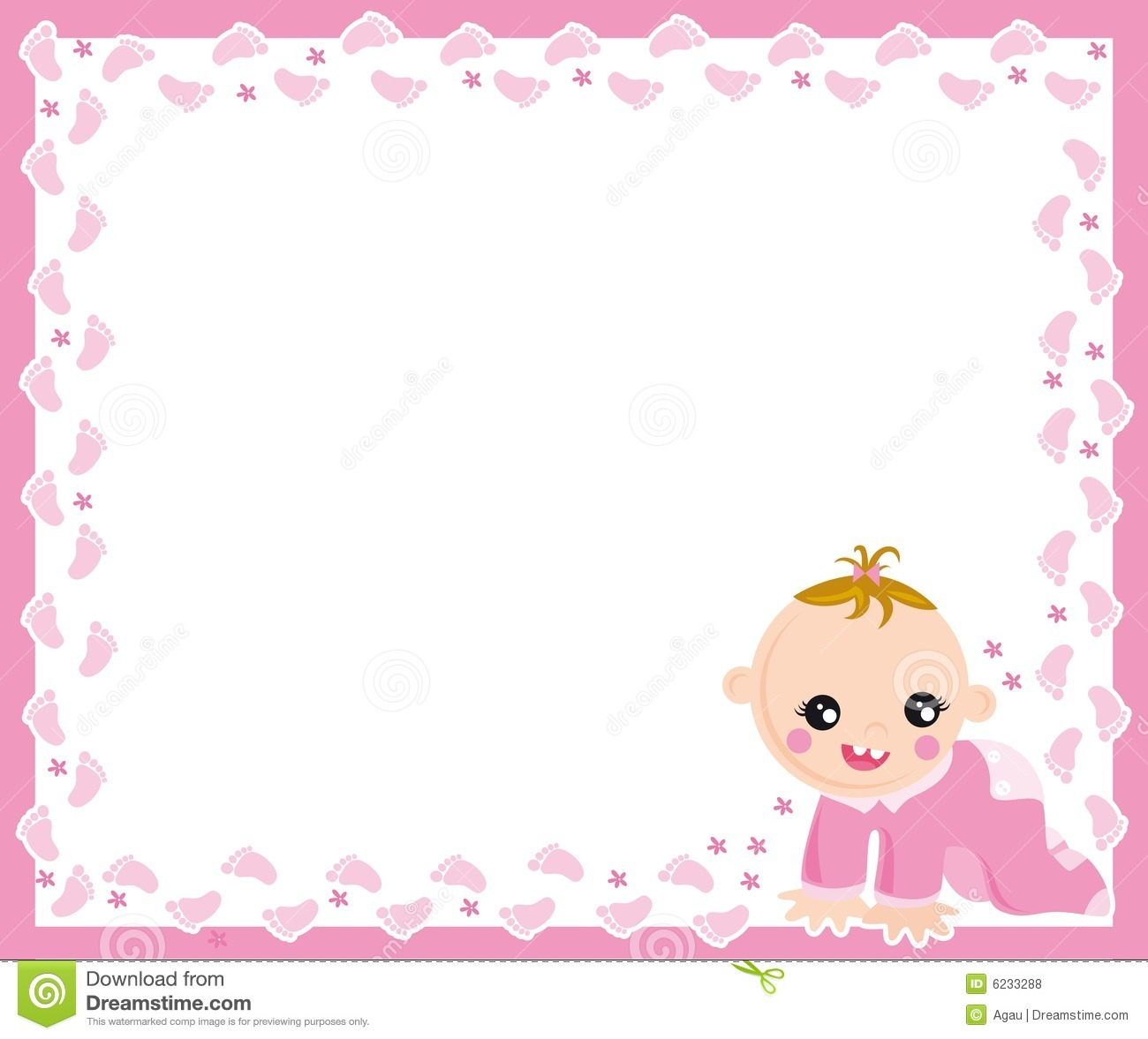 Baby Girl Frame Stock Vector Image Of Track Sweet Small 6233288