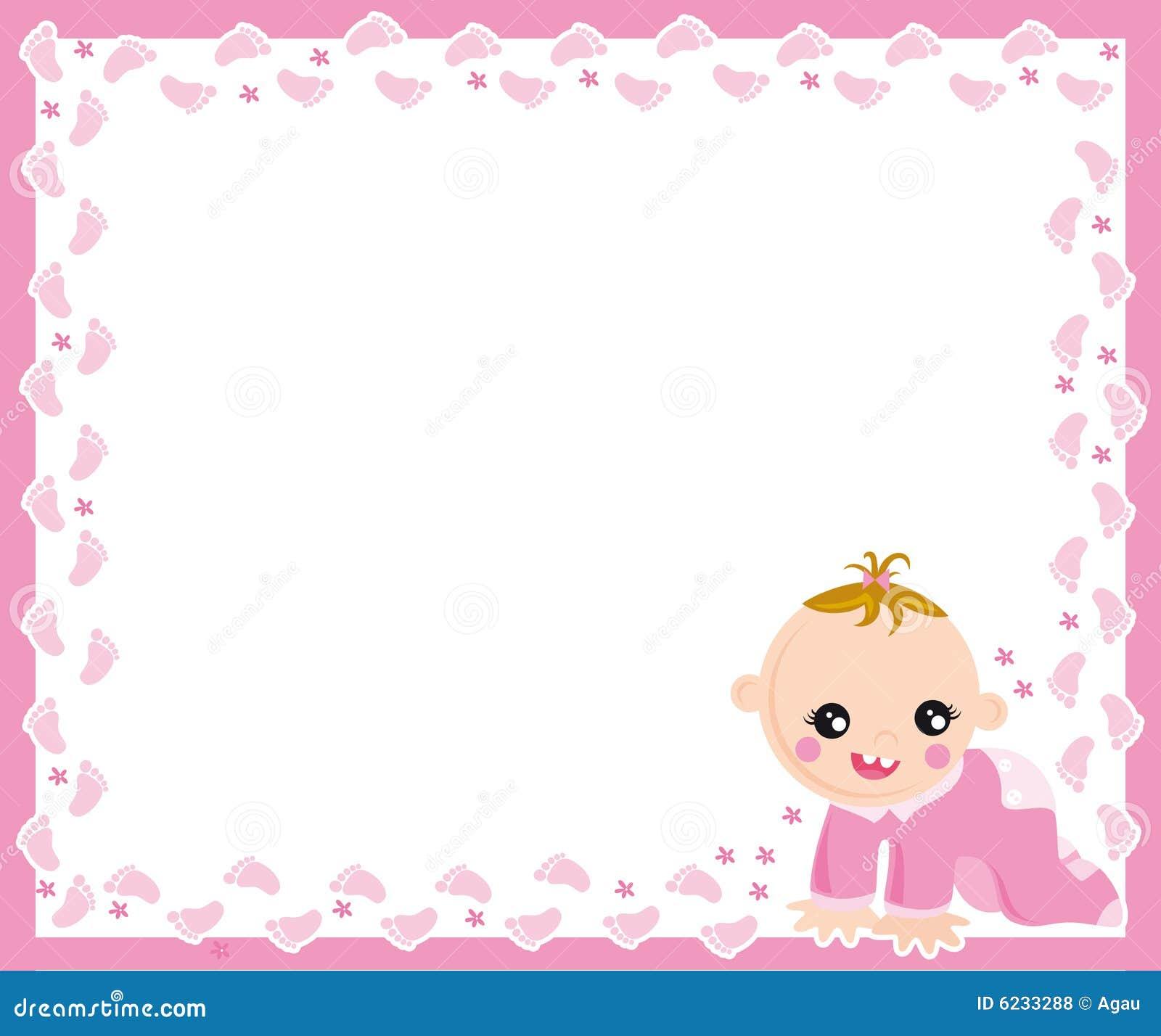 Baby Girl Frame Stock Vector Illustration Of Track Sweet
