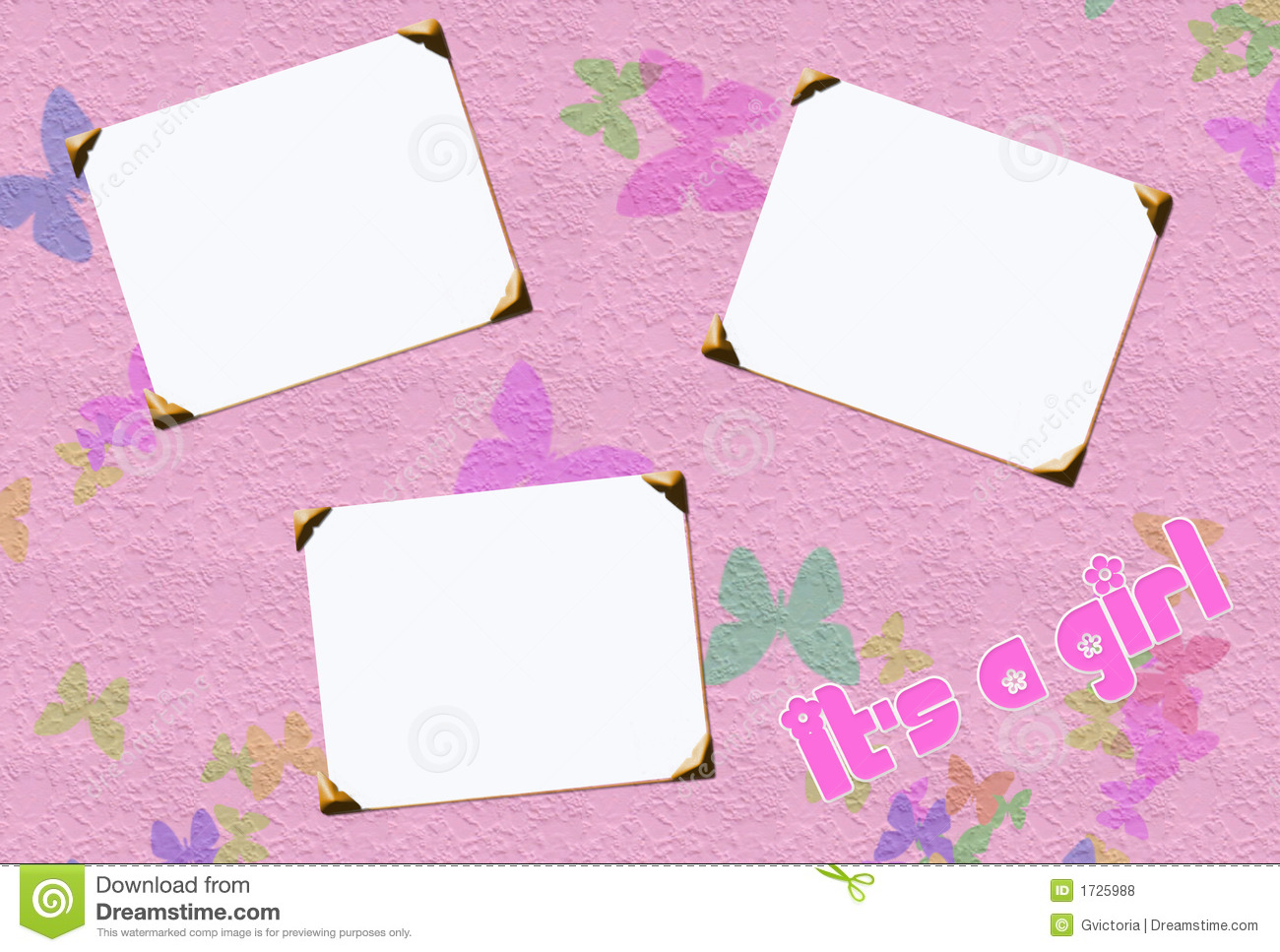 Baby girl frames stock illustration illustration of pink 1725988 baby girl frames jeuxipadfo Images