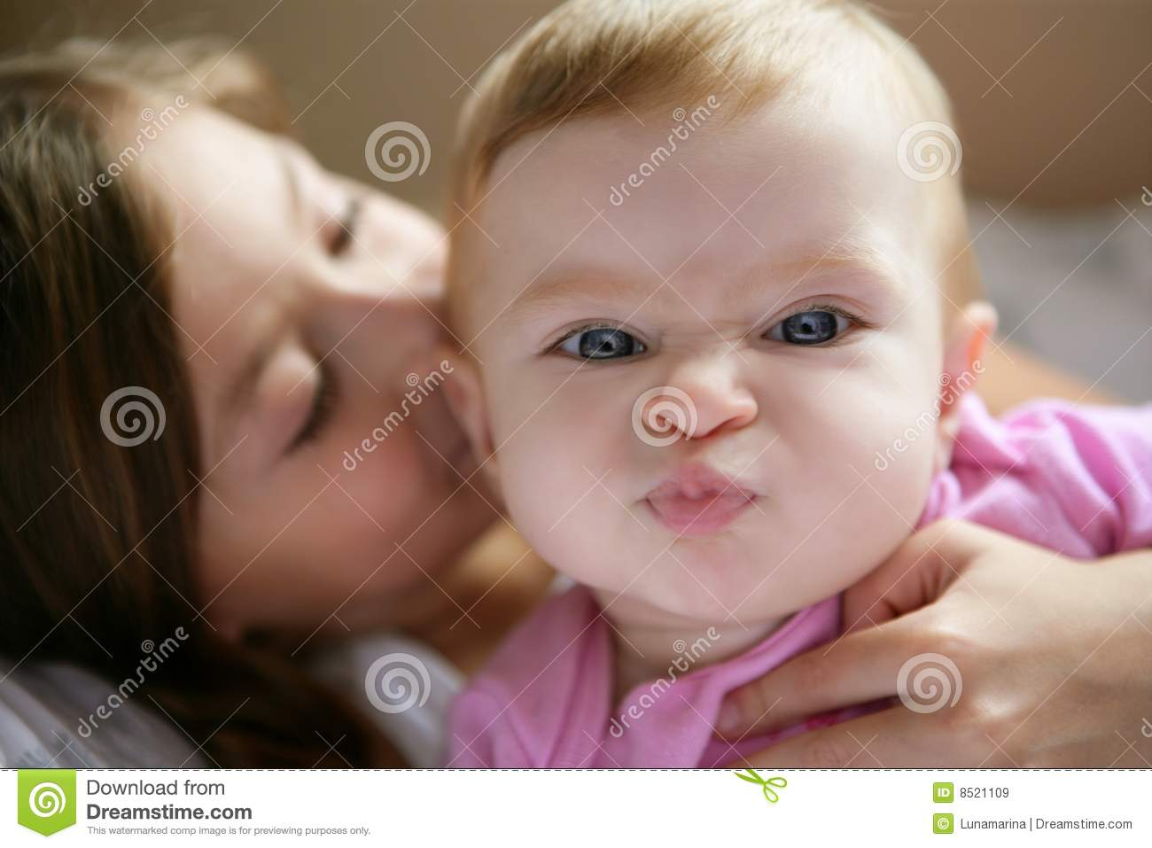 Baby Girl With Funny Expression In Face Royalty Free Stock ... Funny Baby Girl