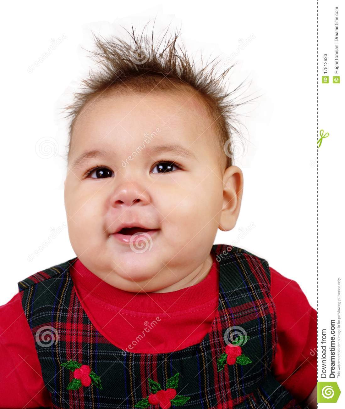 Baby Girl With Funny Spiky Hair Stock Image Image 17512633