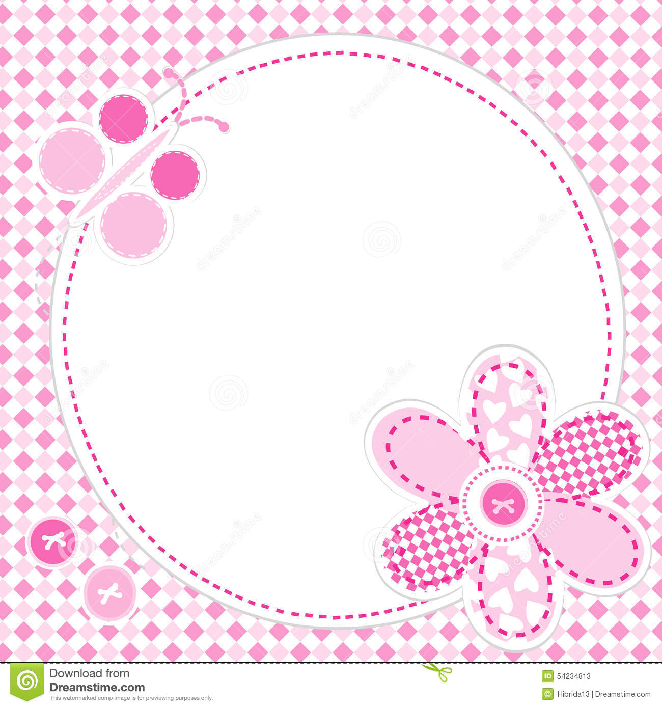 Baby girl greeting card stock vector illustration of beautiful baby girl greeting card m4hsunfo Choice Image