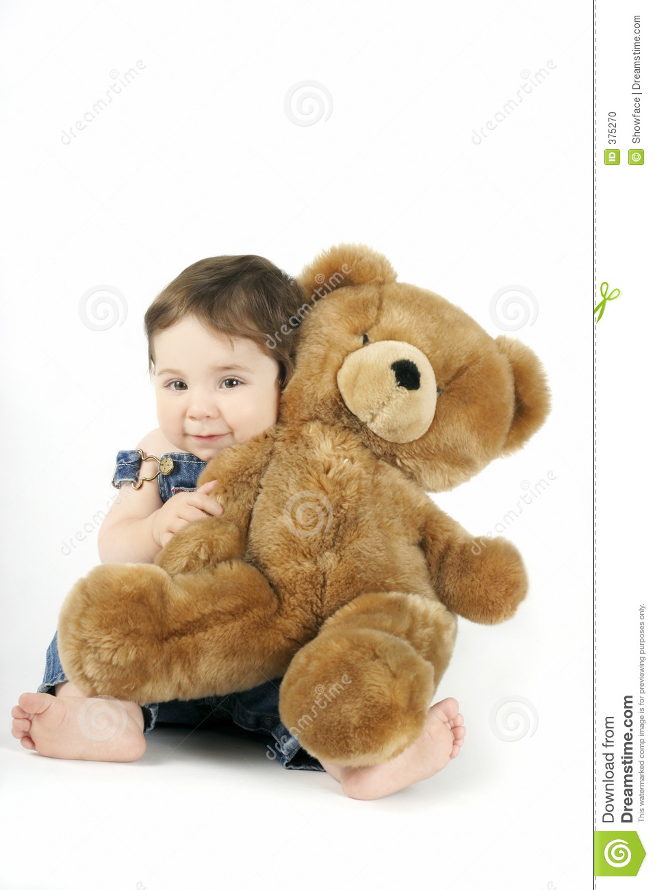 baby girl hugs her teddy and smiles.Browse more of my Kids Pics. Giggle Clipart