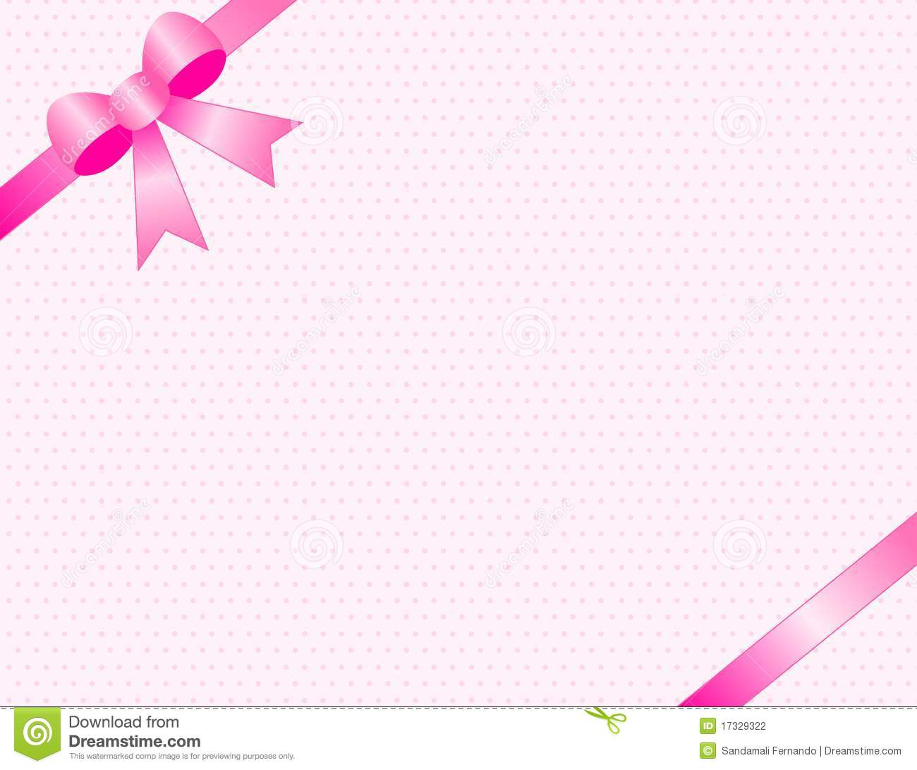Cute baby girl arrival card /party invitation background with pink