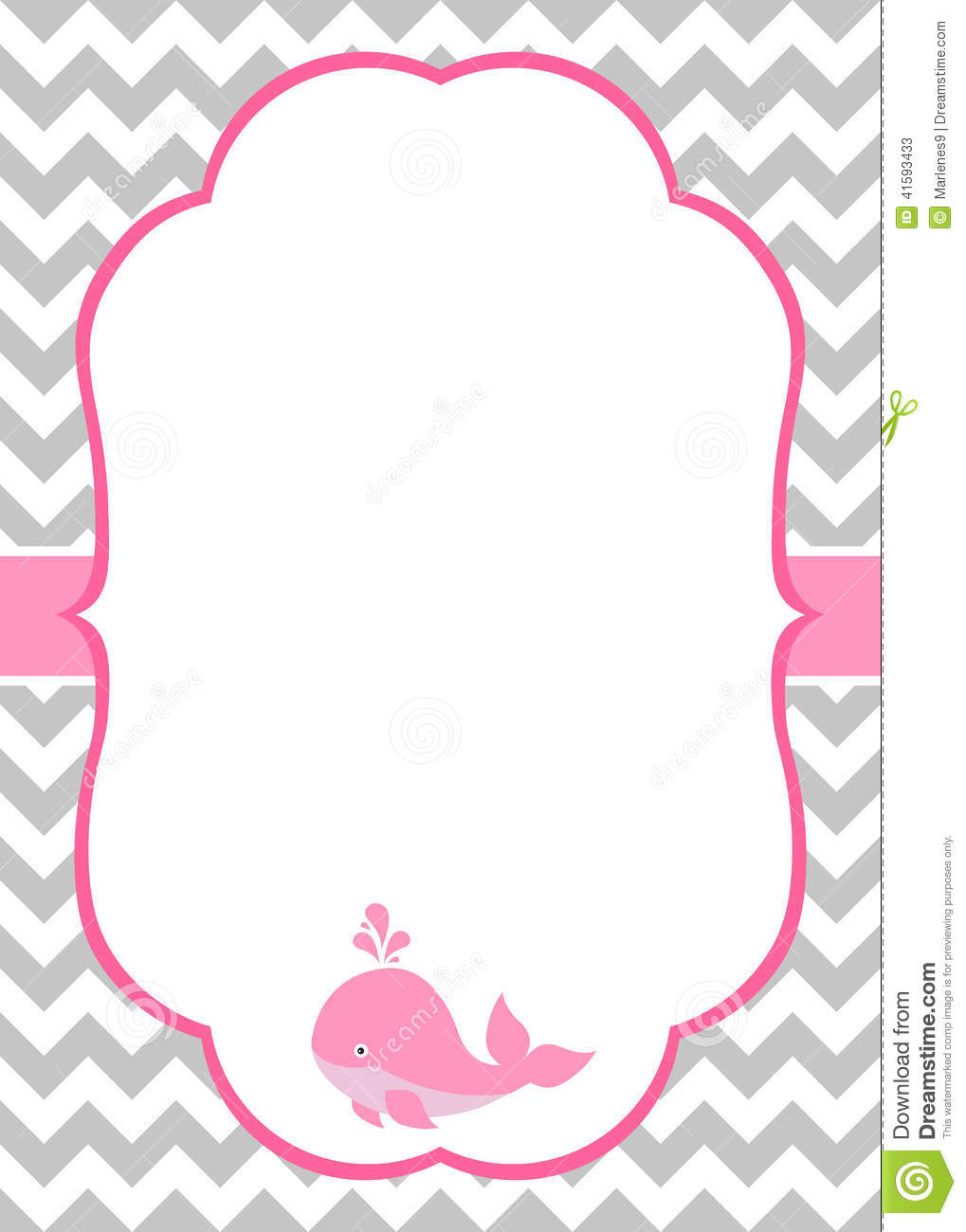 Baby Girl Invitation Card Stock Vector - Image: 41593433