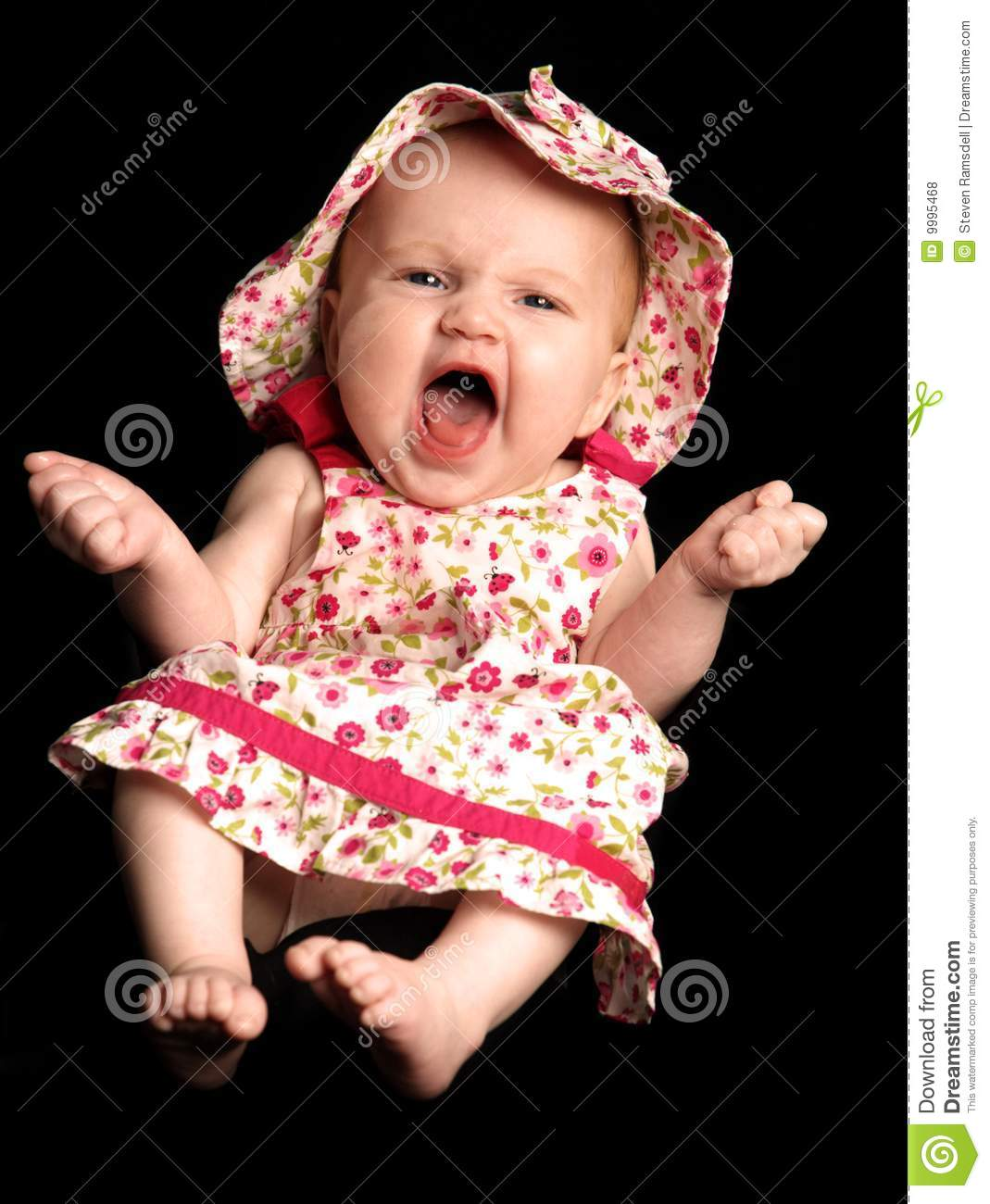 Baby Girl Laughing Royalty Free Stock Photos - Image: 9995468