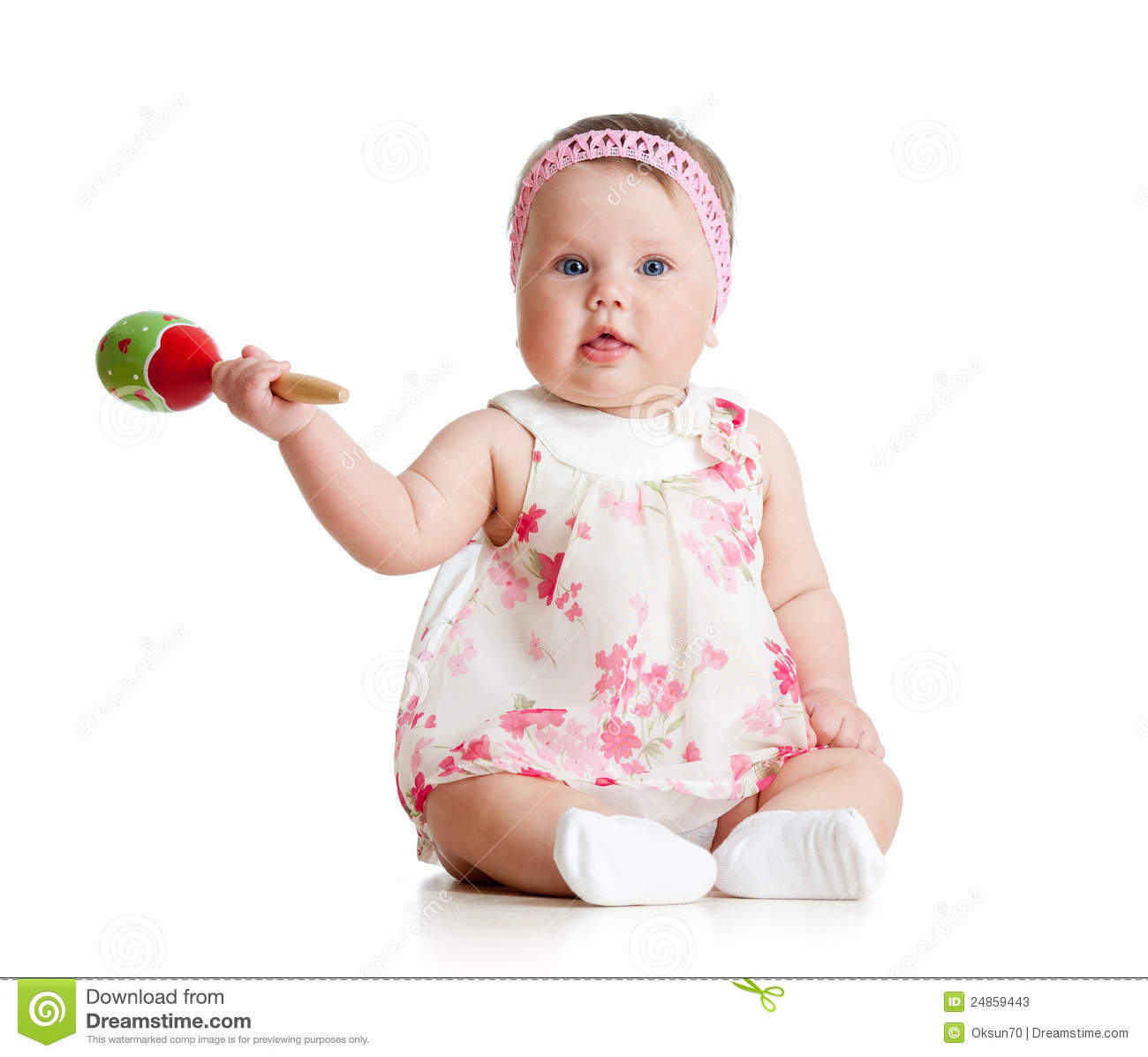 Toddler Toys Photography : Baby girl with musical toys stock photos image