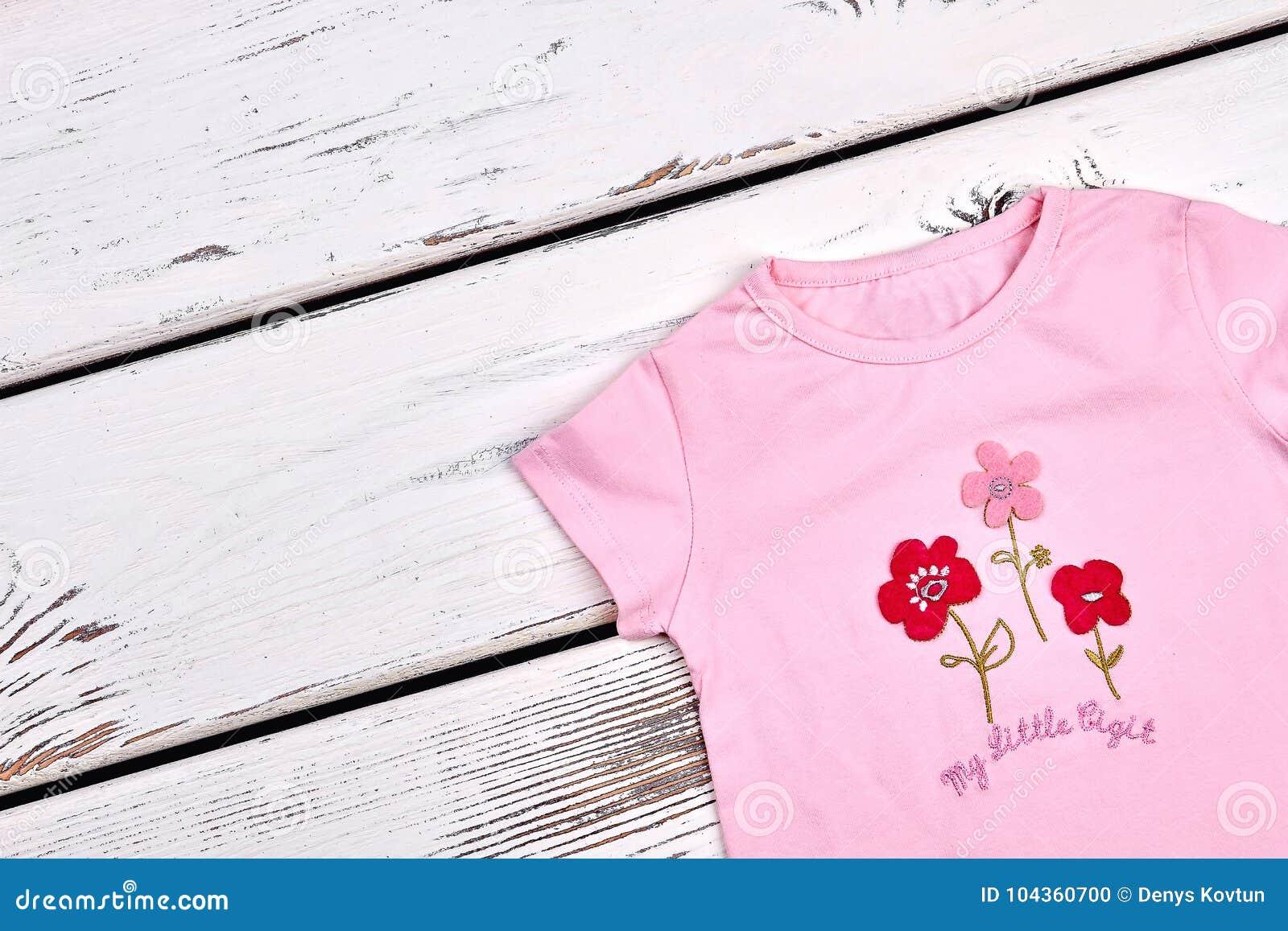 997eb8ab9 Baby-girl New Cartoon T-shirt. Stock Photo - Image of organic ...