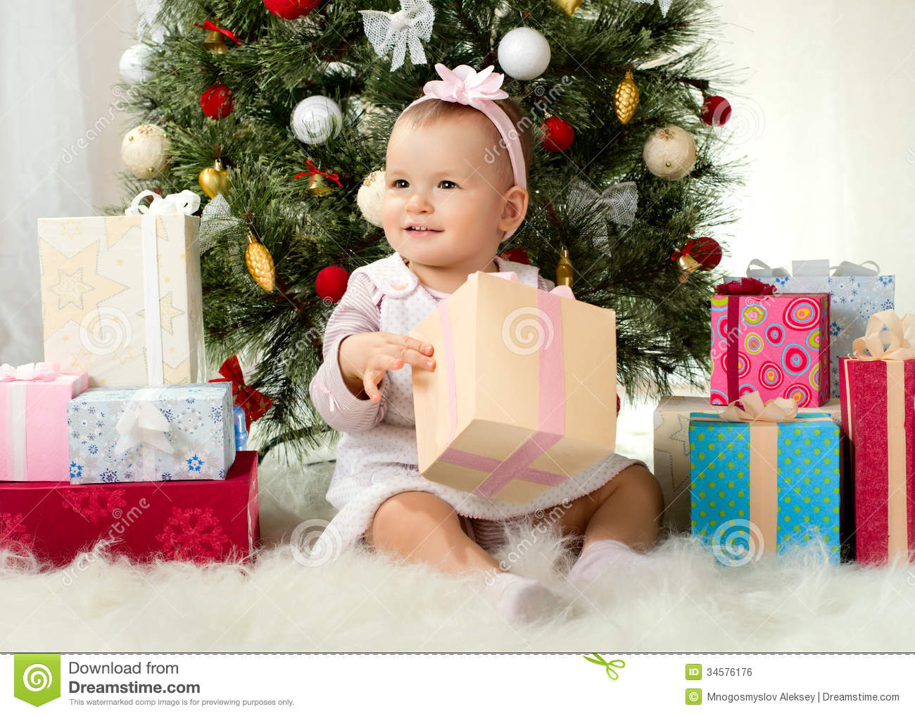 Gift For 1 Year Girl Baby: Baby Girl Royalty Free Stock Image