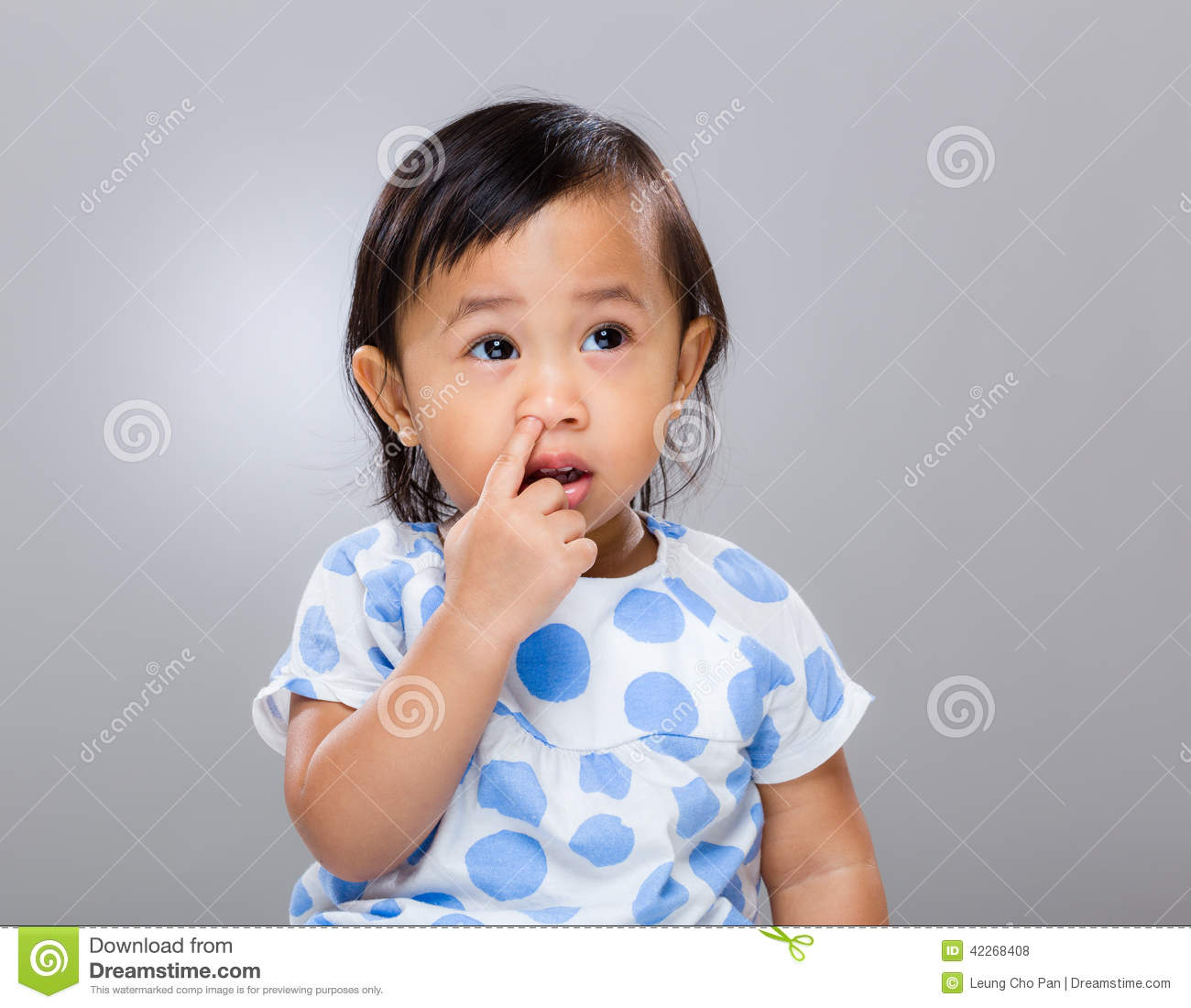 baby girl pick nose stock photo. image of childhood, confuse - 42268408