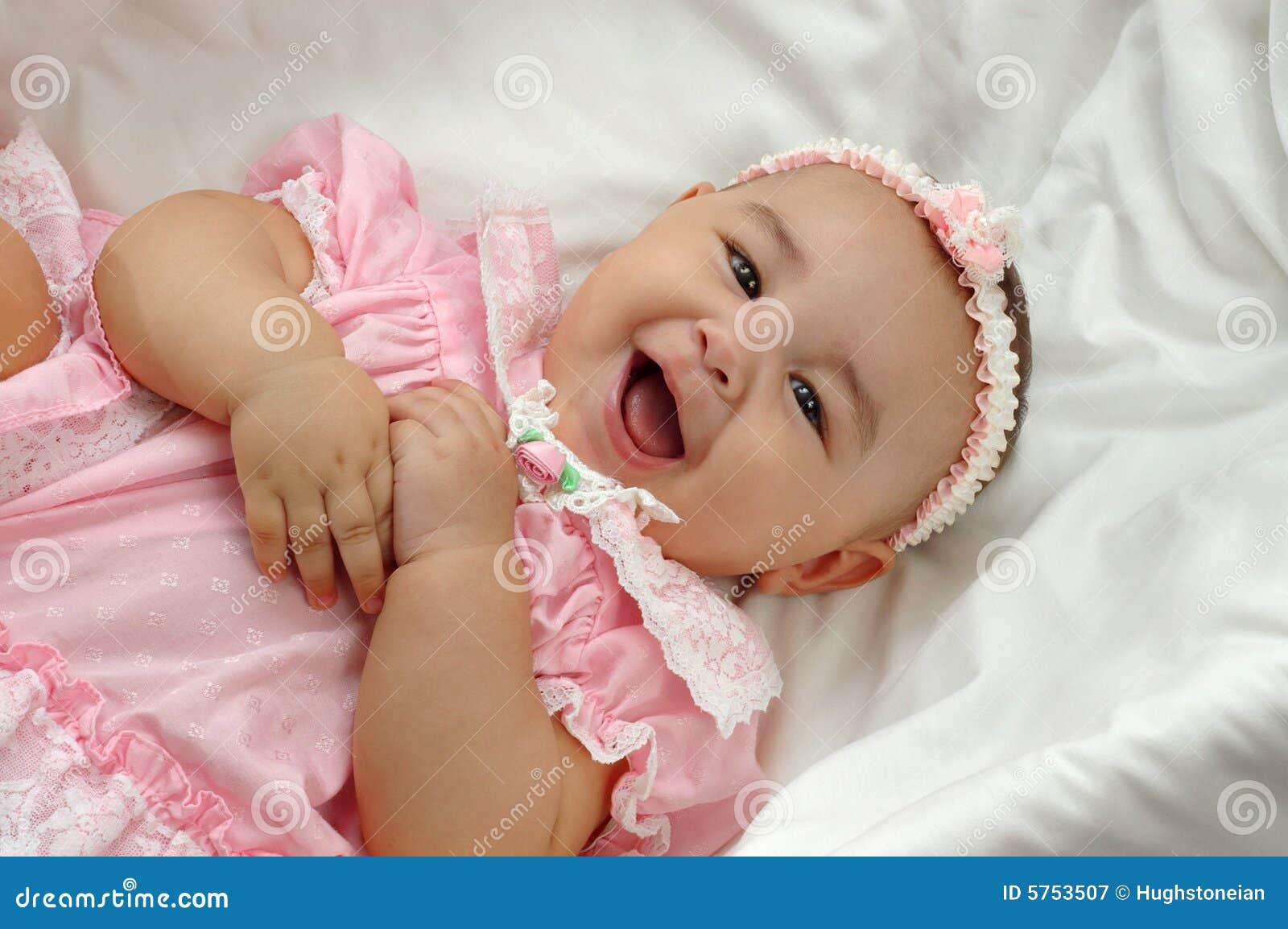 Newborn Hispanic Baby Girls Baby Girl in pink 6 mo...