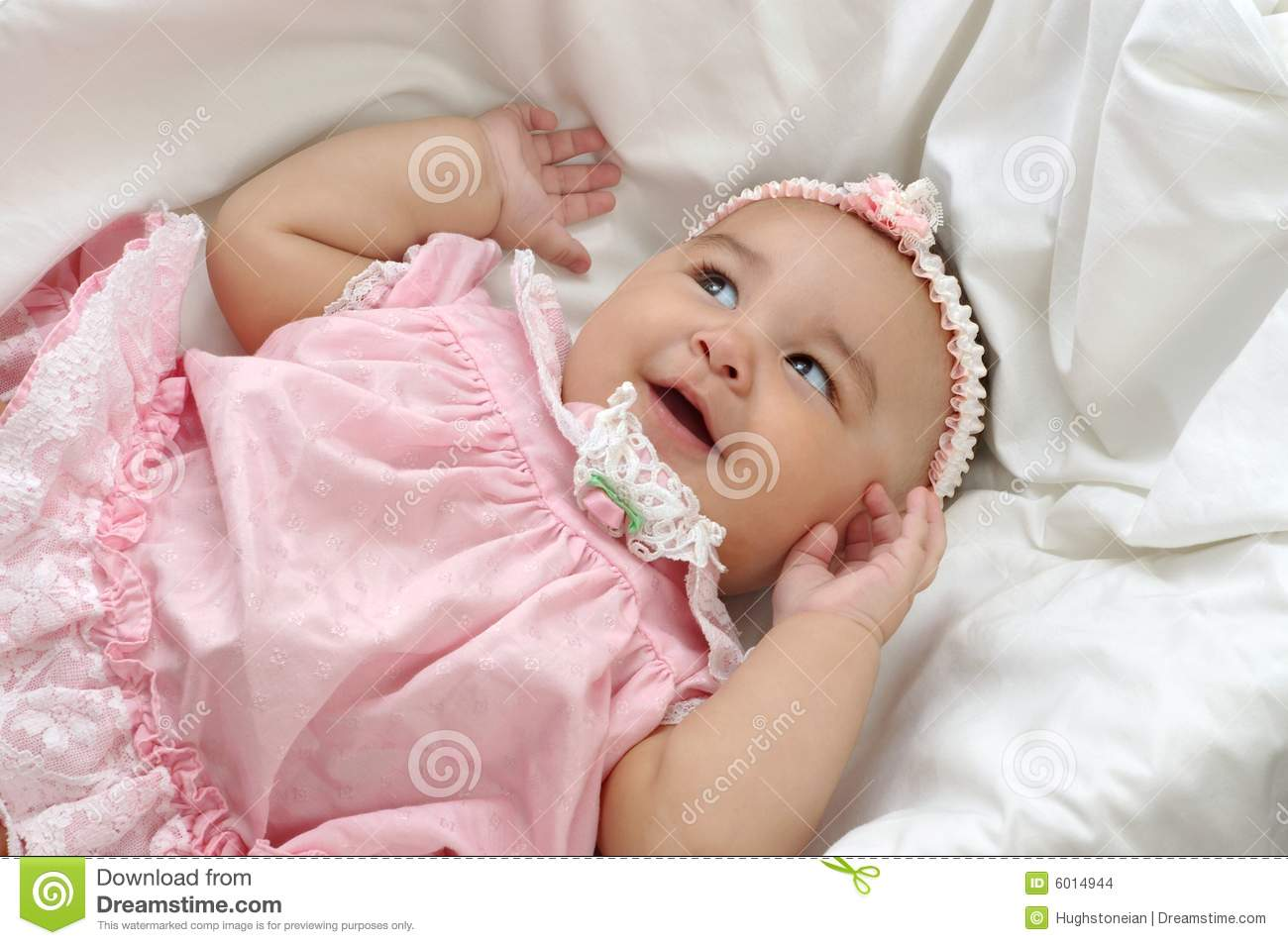 baby girl in pink 6 months stock photo. image of girl - 6014944