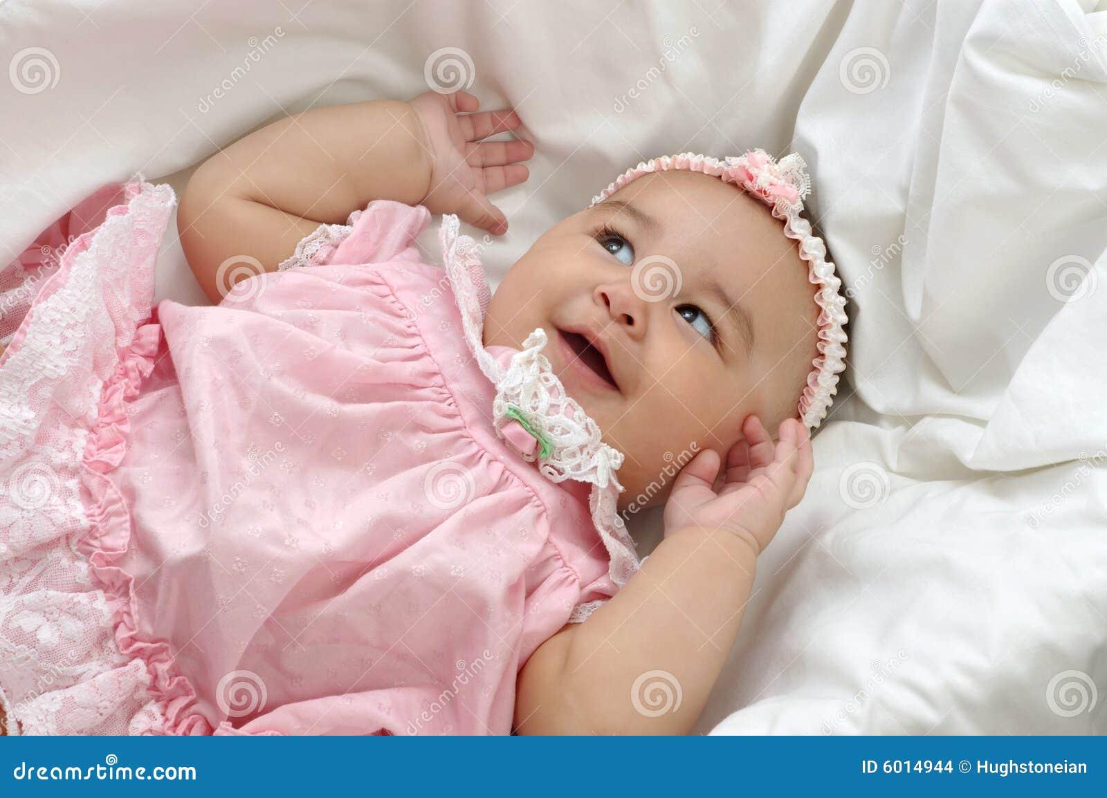 Newborn Hispanic Baby Girls Baby Girl in Pink 6 months