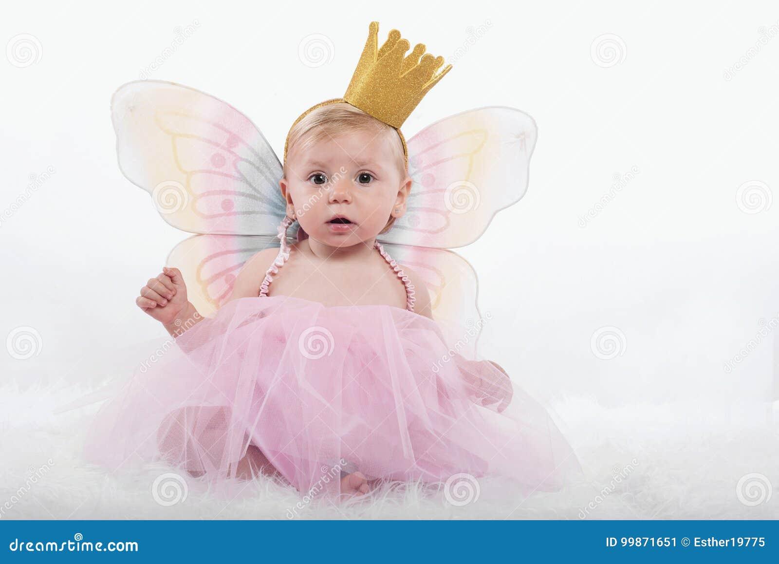Baby girl in princess costume