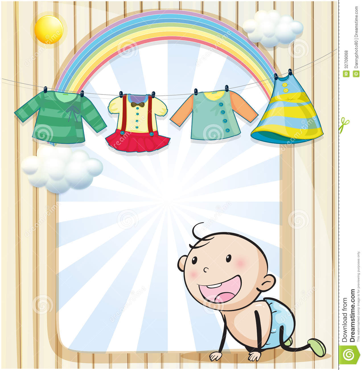 A baby girl s clothes hanging