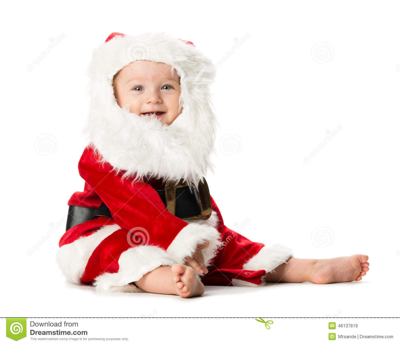 Baby Girl Santa Claus Costume White