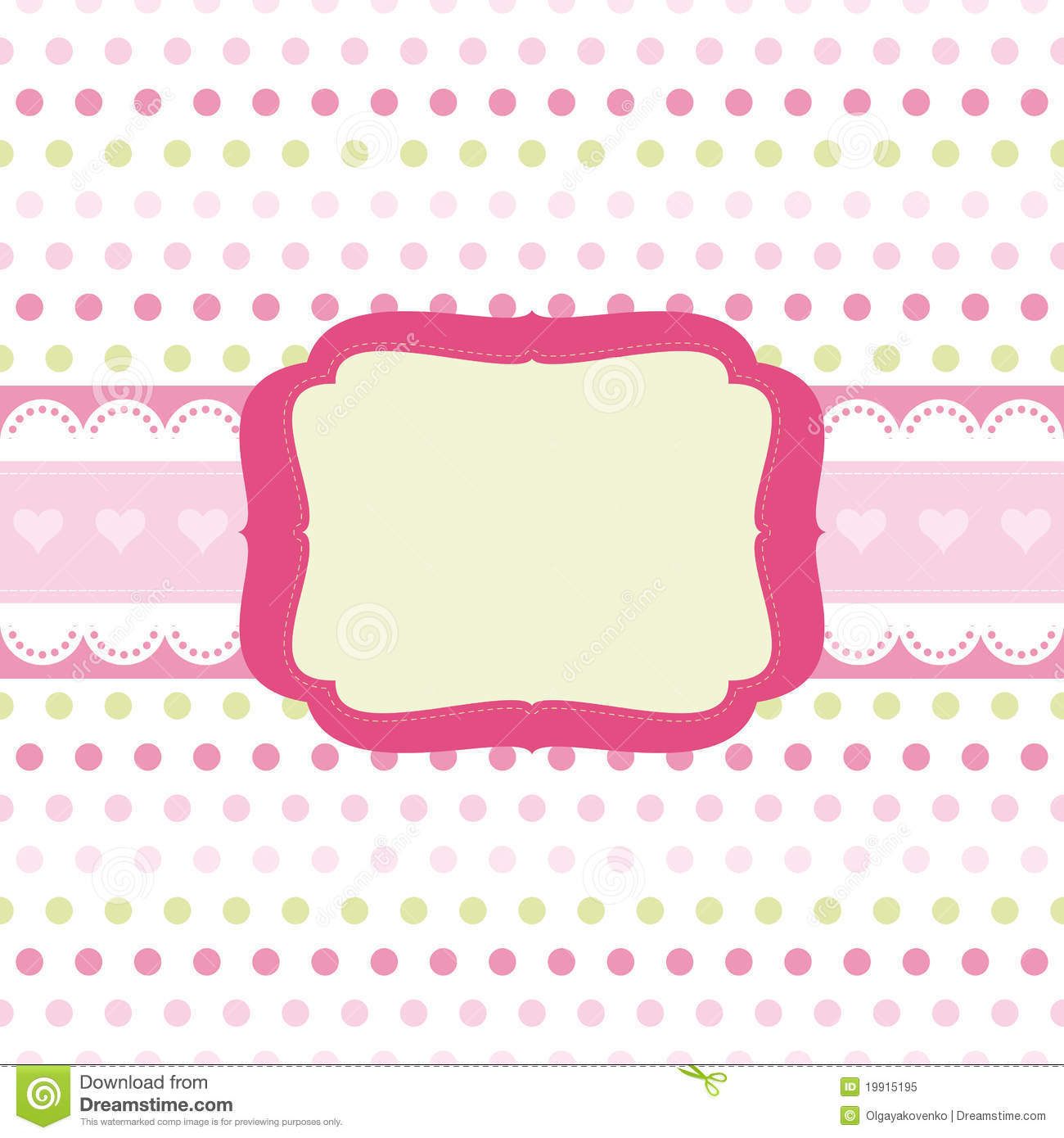 Baby Girl Scrap Background. Royalty Free Stock Photo  Image: 19915195