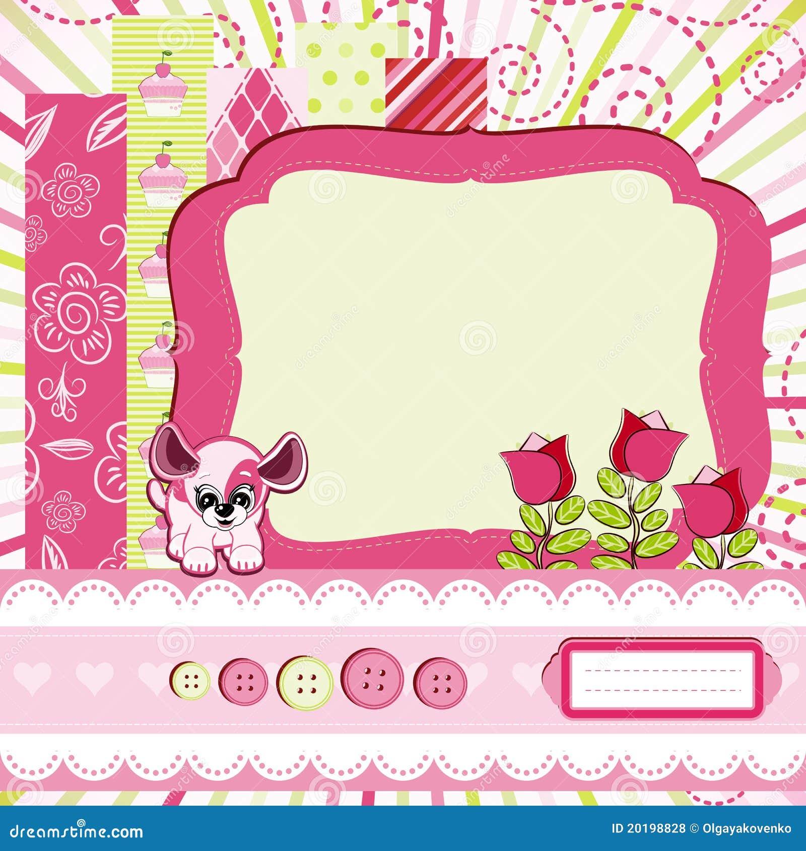 Puppy Birthday Invitations with beautiful invitation layout