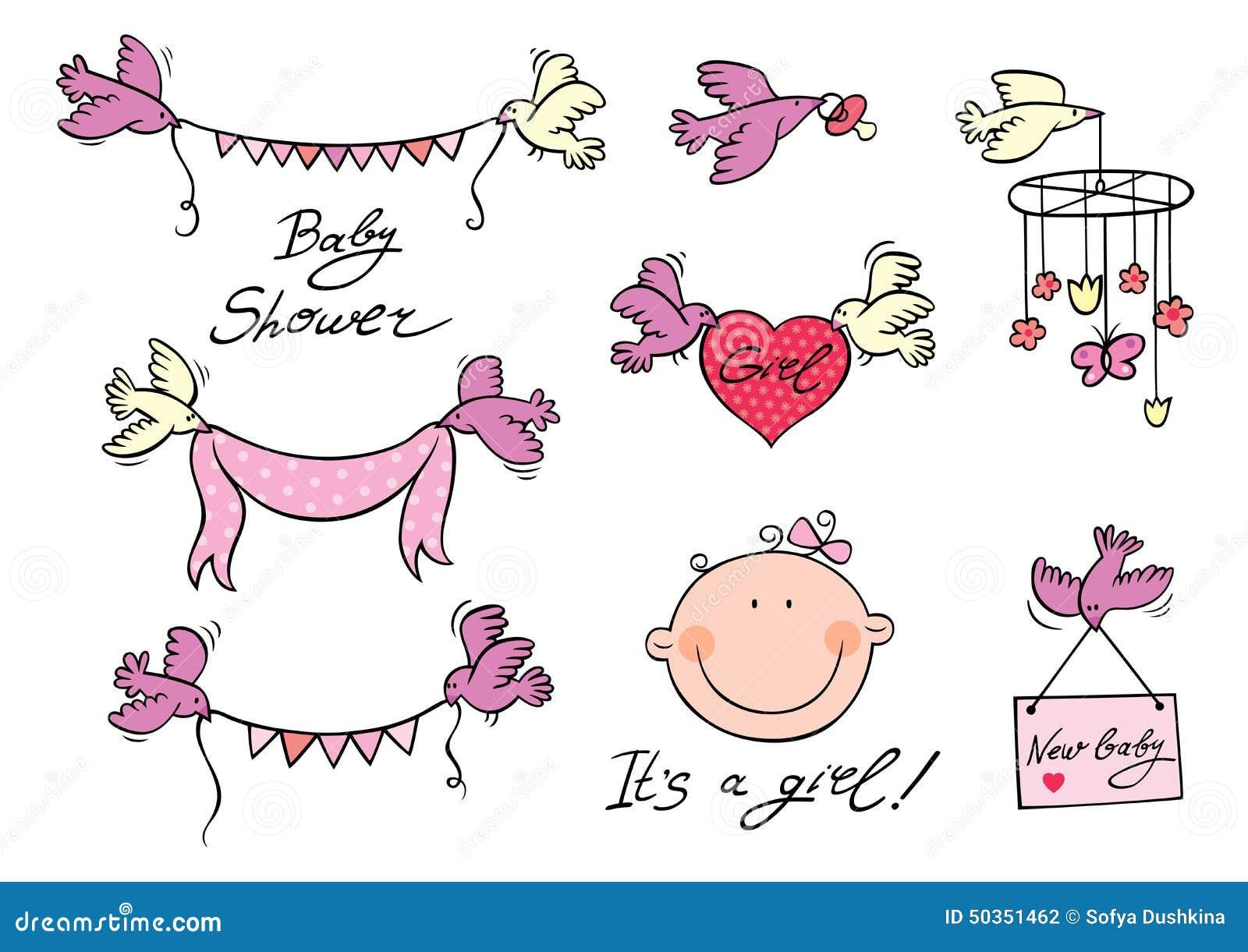 Baby Girl Set Of Vector Elements Stock Vector - Image ...