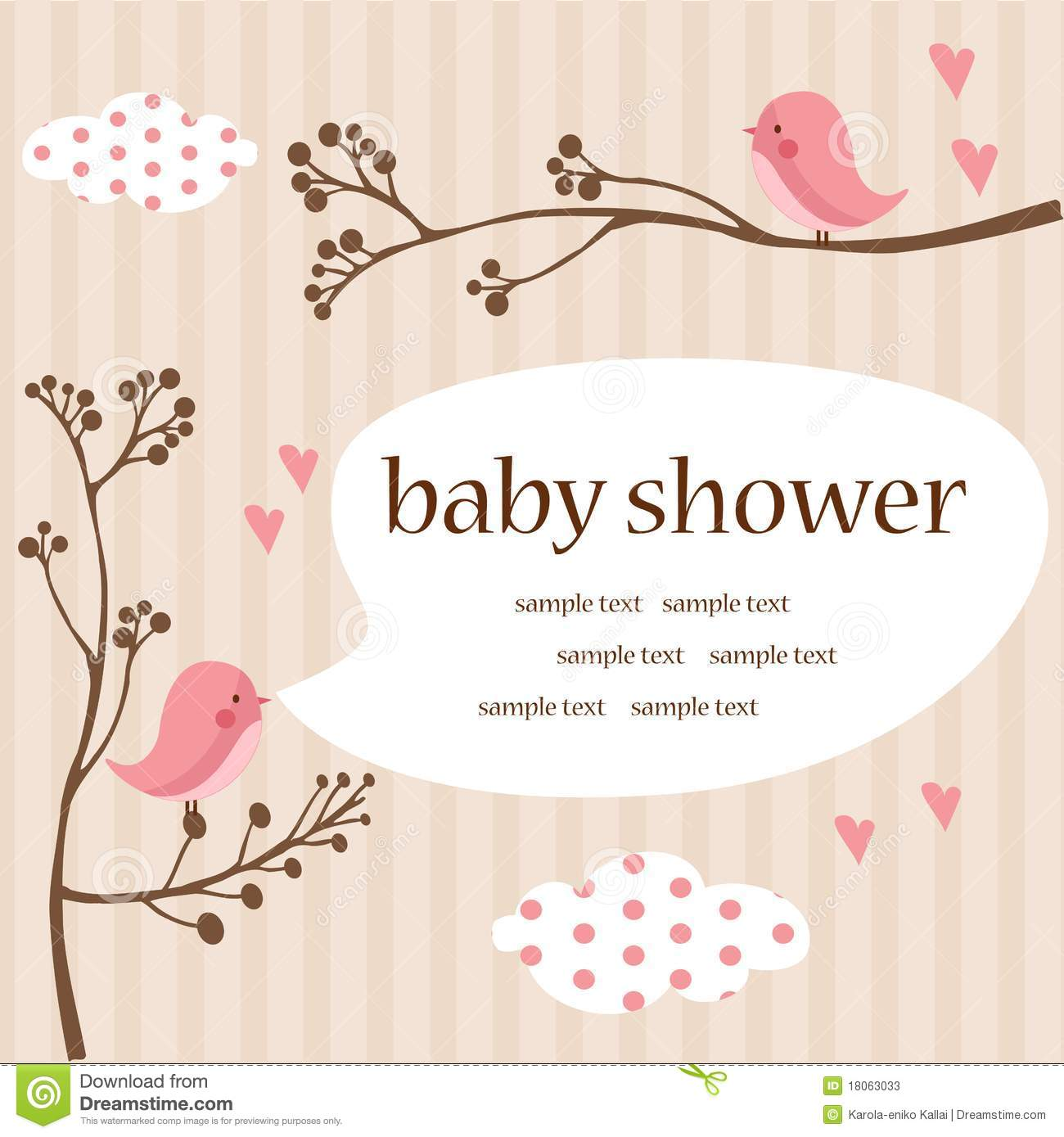 baby girl shower stock photos image 18063033