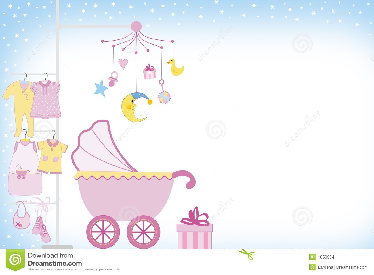 baby girl shower stock images image 1859334