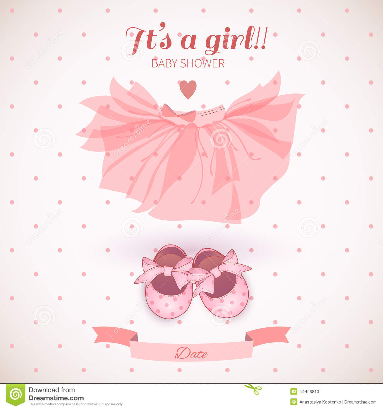 Charming Baby Girl Shower Card