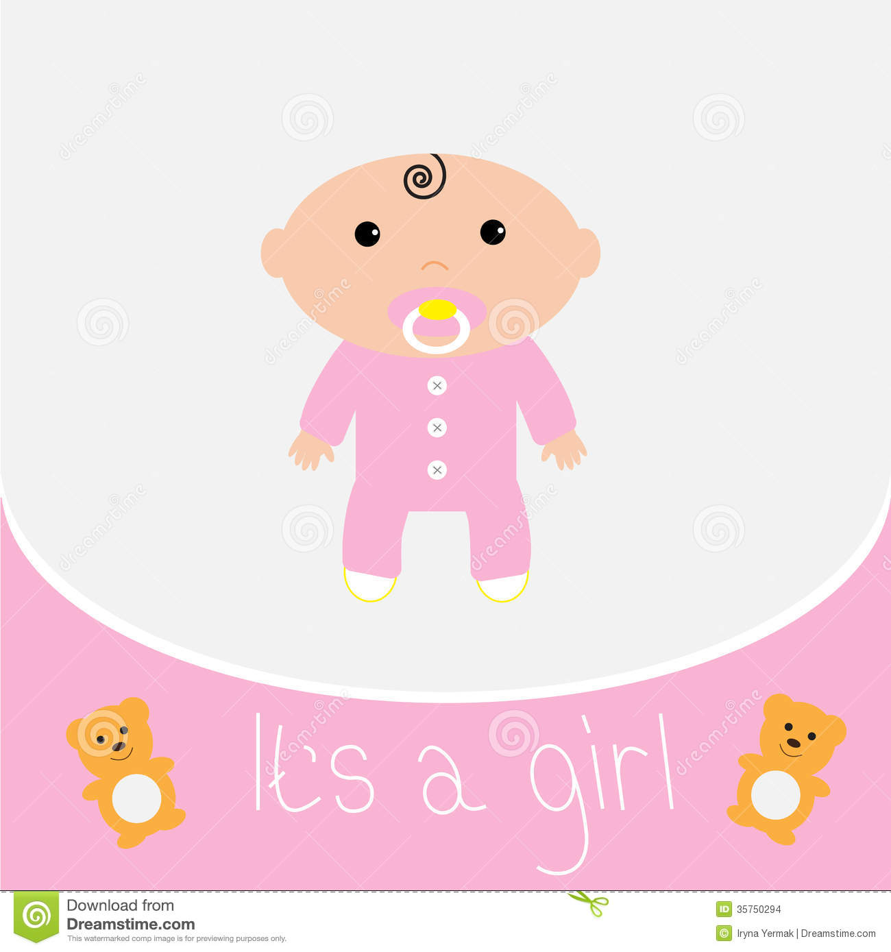 baby girl shower card stock images image 35750294