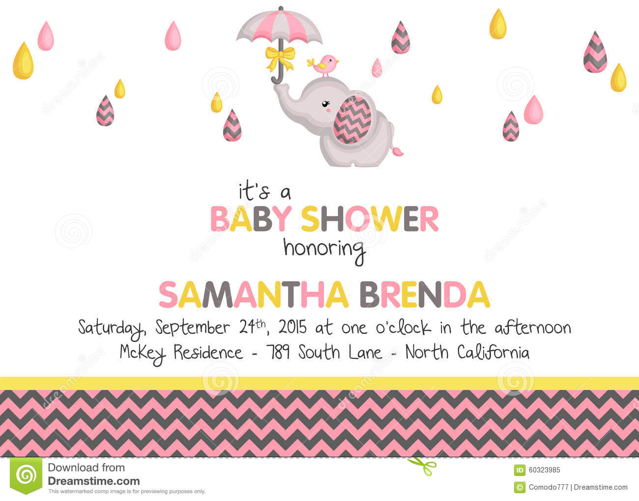 baby girl shower invitation stock vector image baby shower invitations