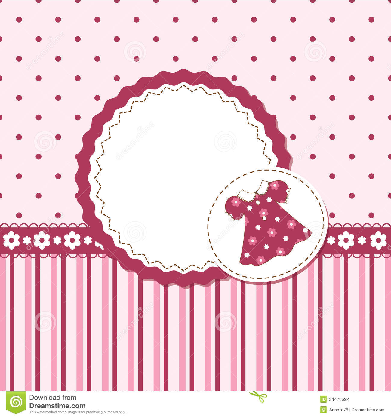 Baby girl shower stock vector illustration of quilt 34470692 baby girl shower stopboris Image collections